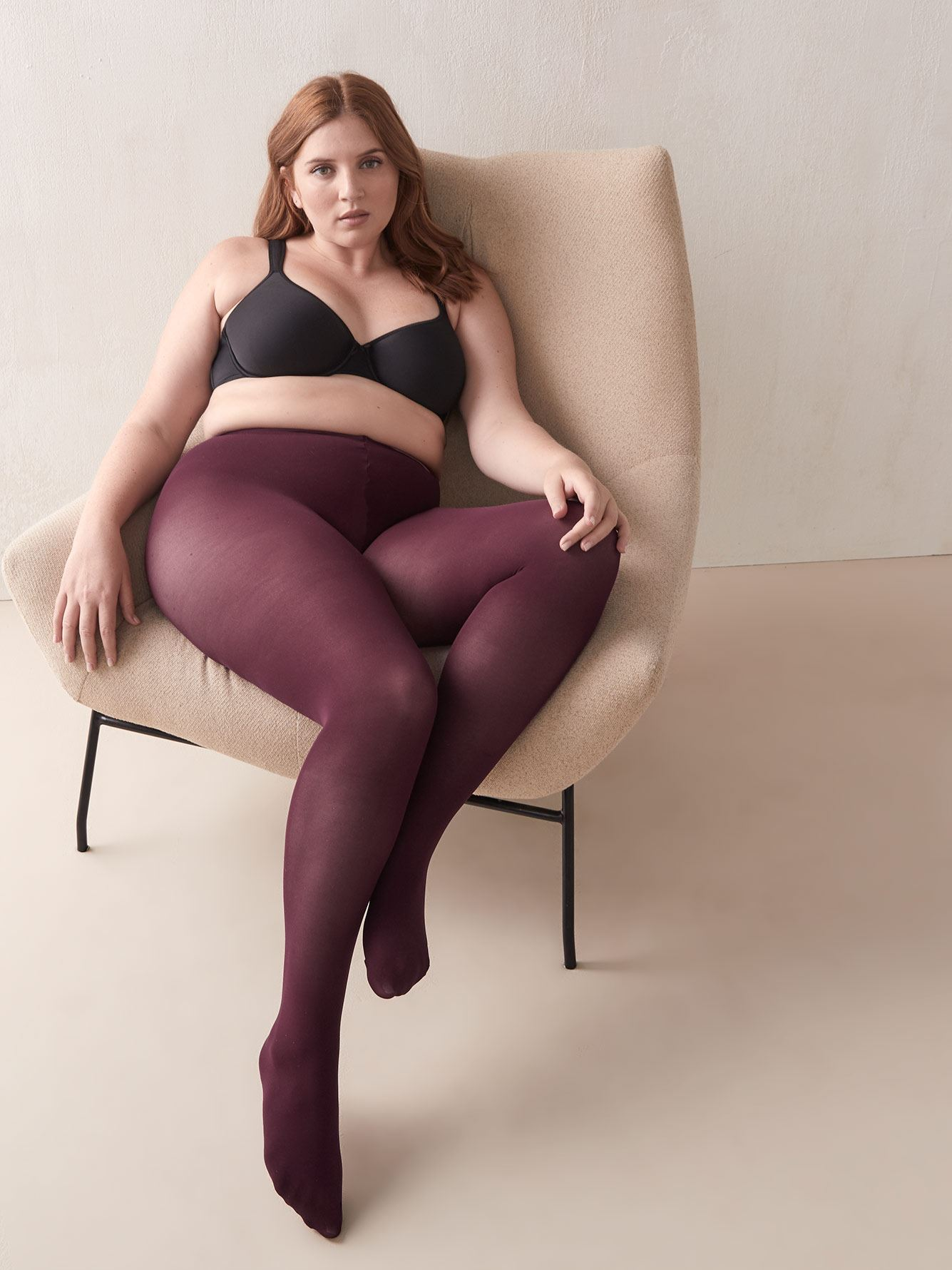 Diamond-patterned Tights with Sewn-In Panel - Mondor