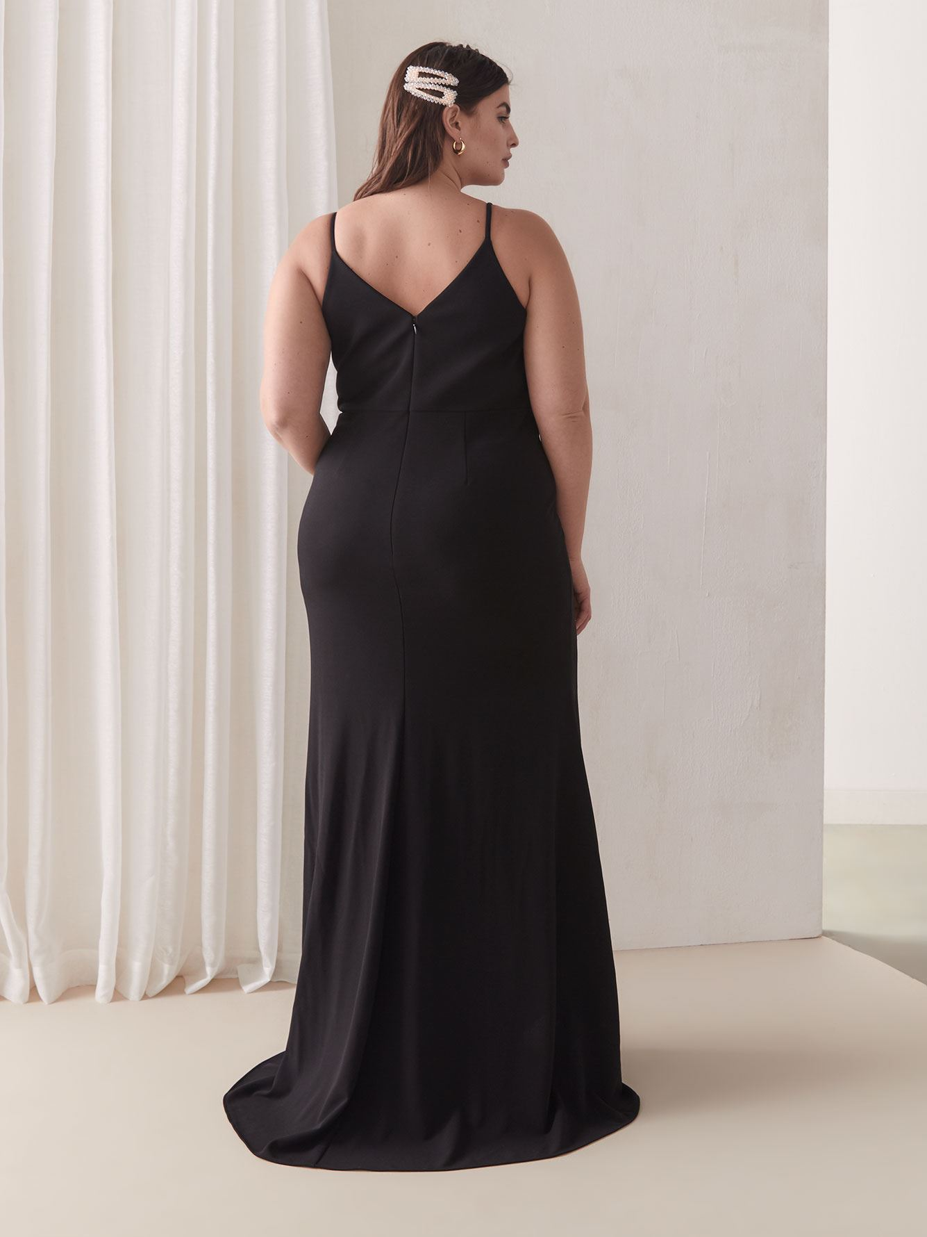 Black Evening Slip Dress - Addition Elle
