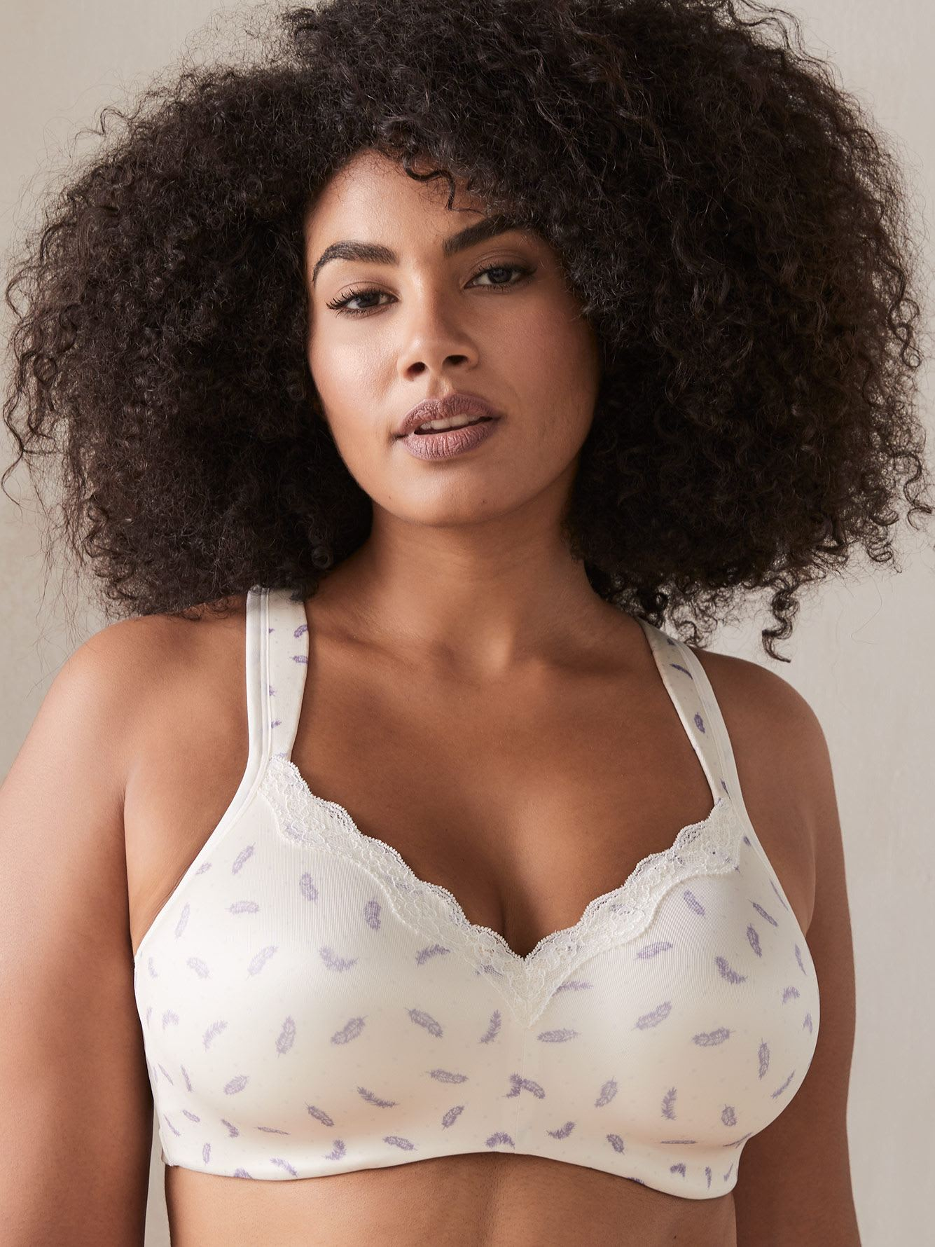 Printed Padded Wirefree Bra