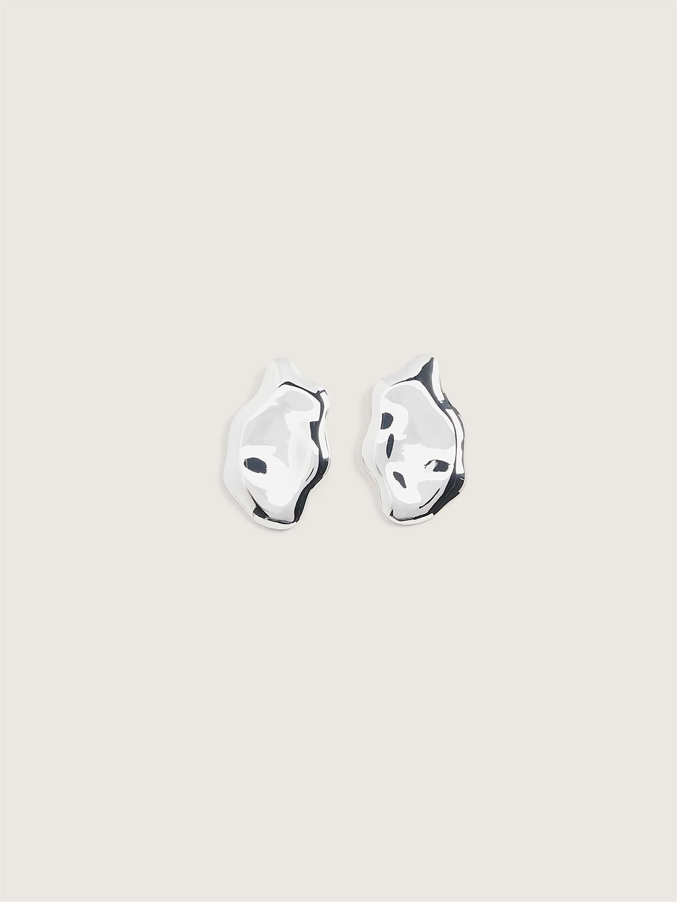 Real Silver Plated Post Earrings - Addition Elle
