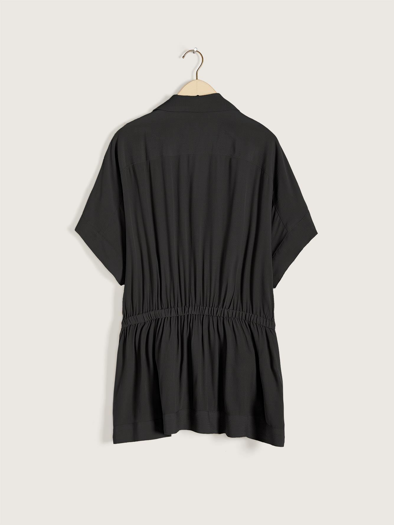Solid Dolman Sleeve Overpiece Tunic - Addition Elle