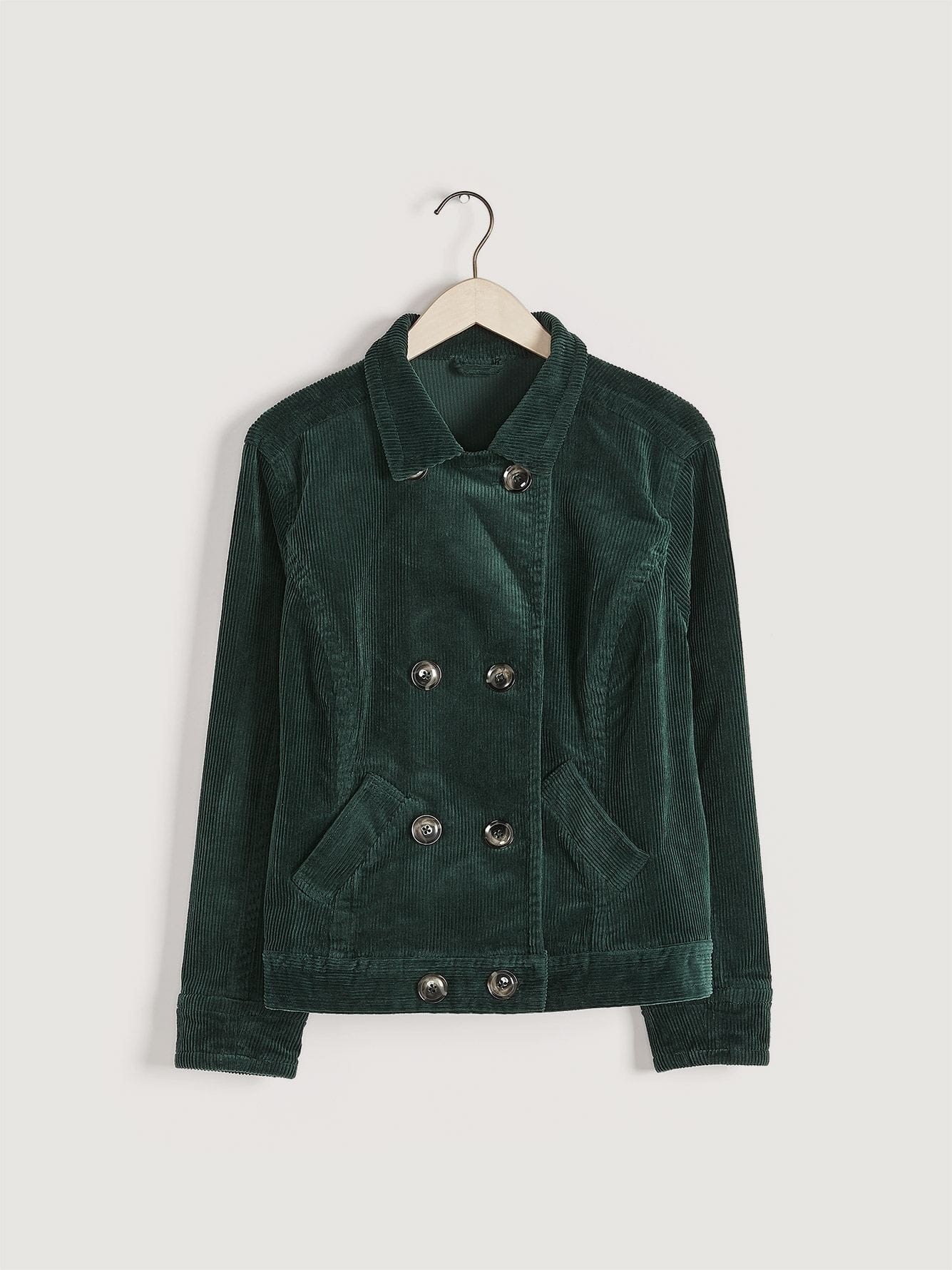 Green Corduroy Jacket - Addition Elle