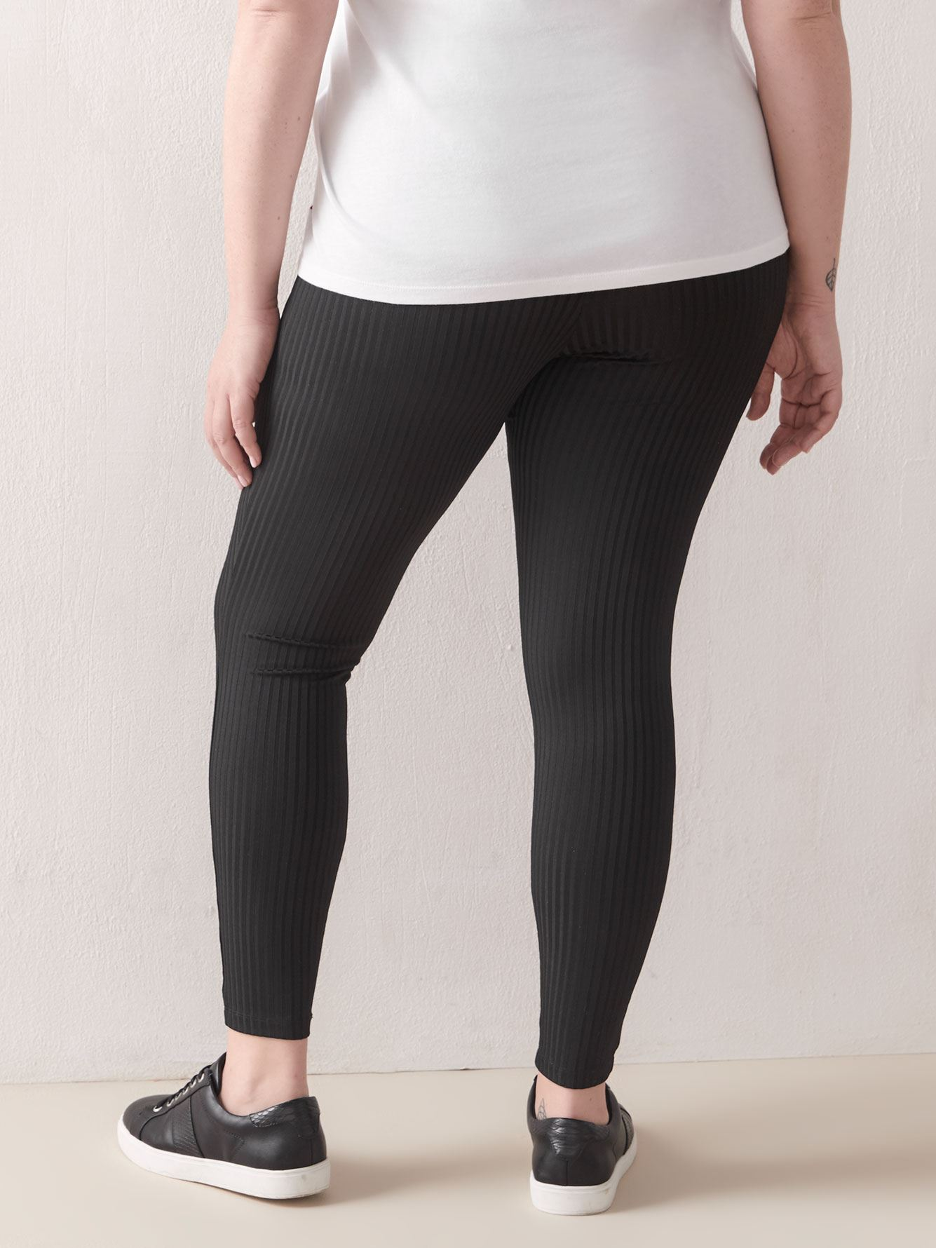 Wide Waistband Ribbed Legging - Addition Elle