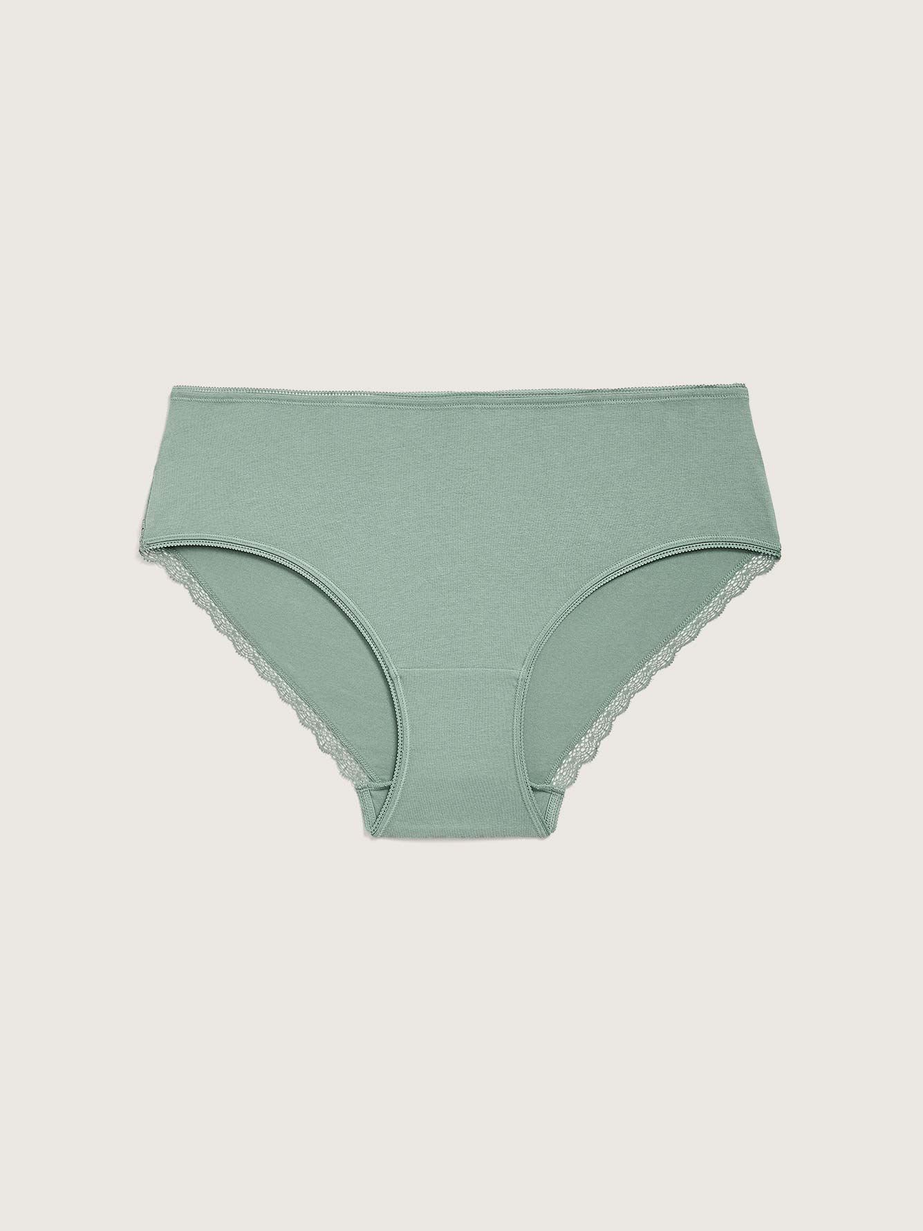 Solid Cotton Hipster Panty - Addition Elle