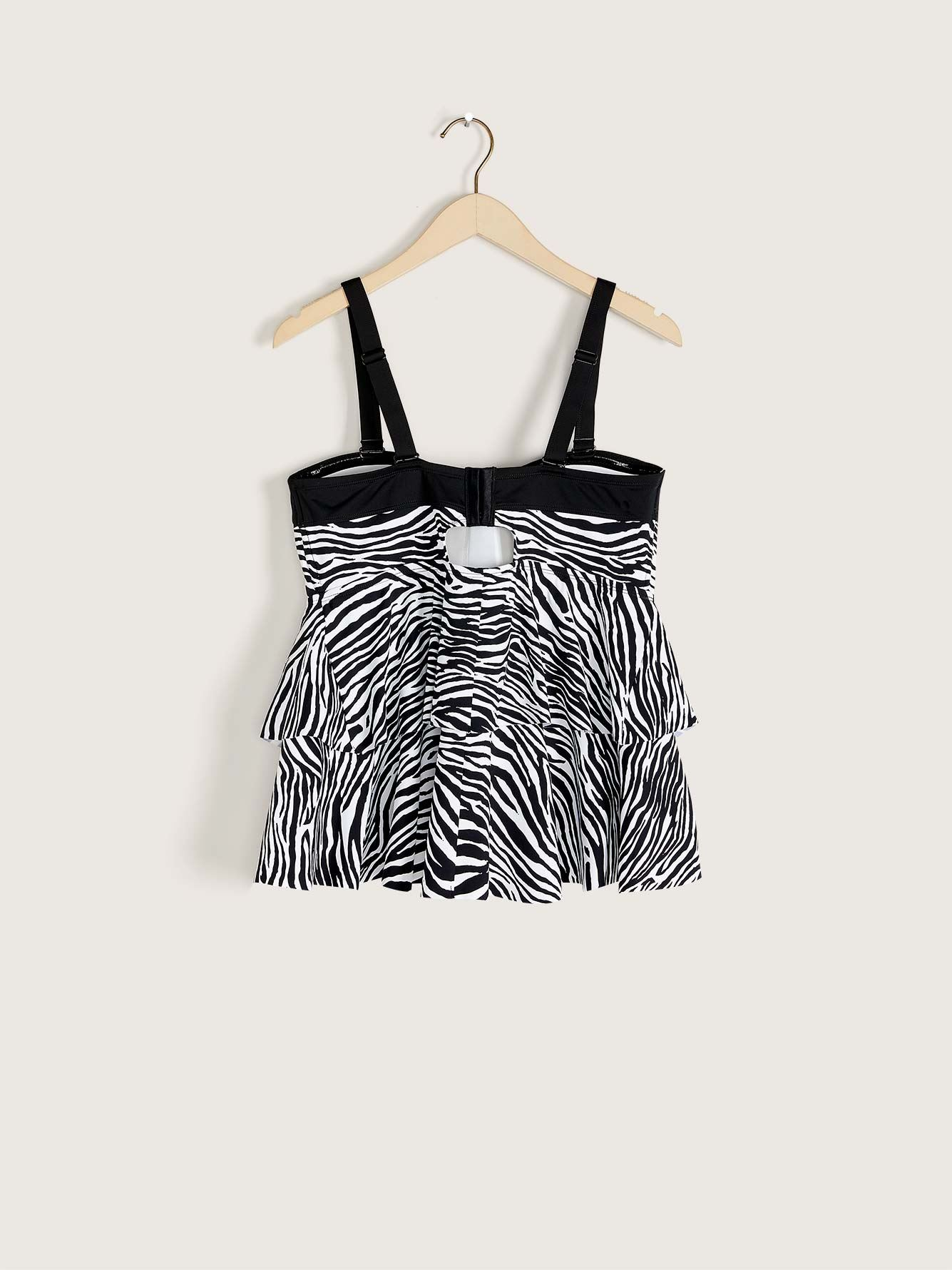 Zebra Print Tankini Top - Addition Elle