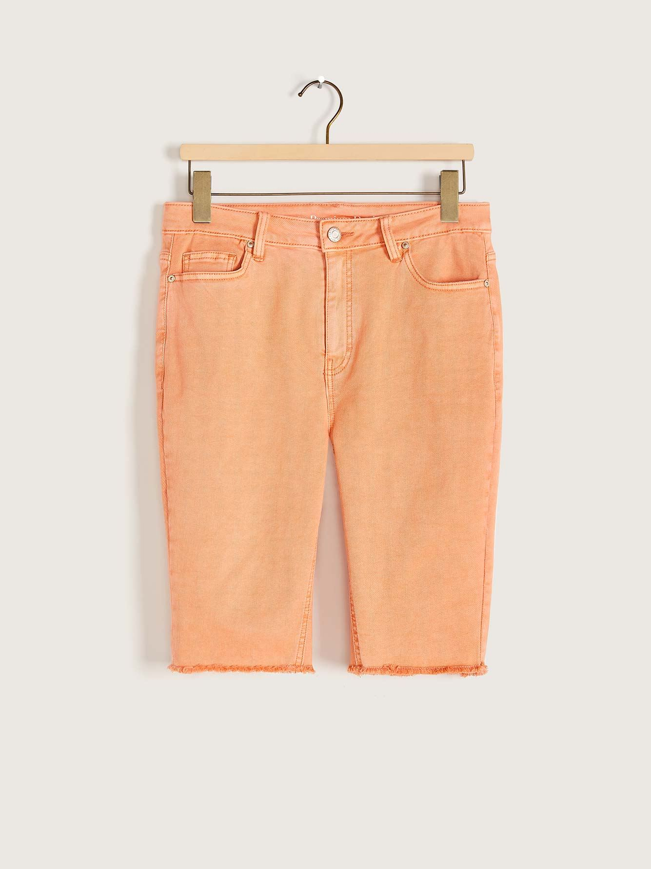 Color Denim Biker Short - Addition Elle