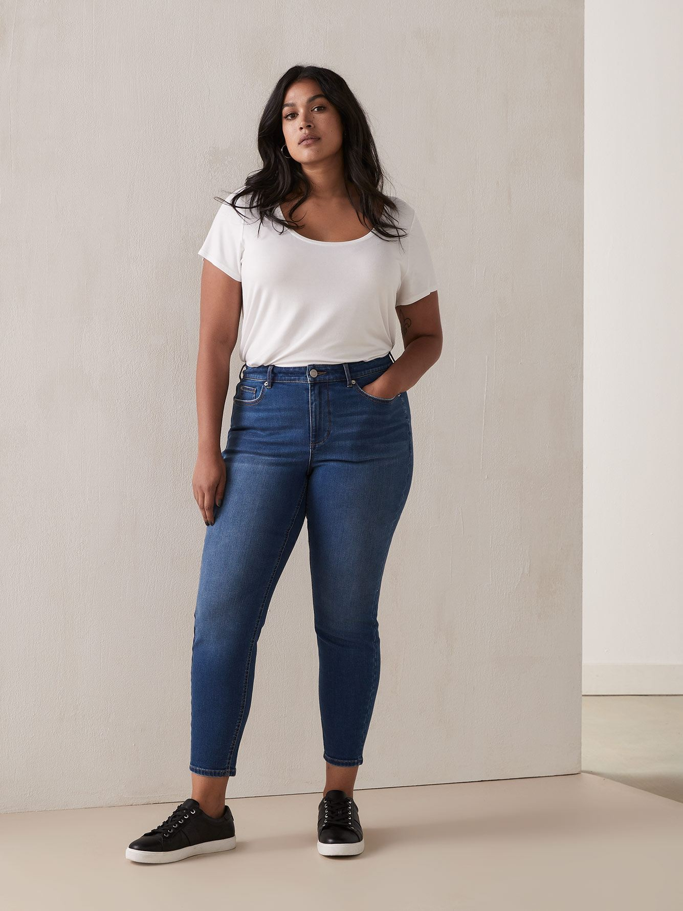 Skinny Medium Wash Jean - Addition Elle