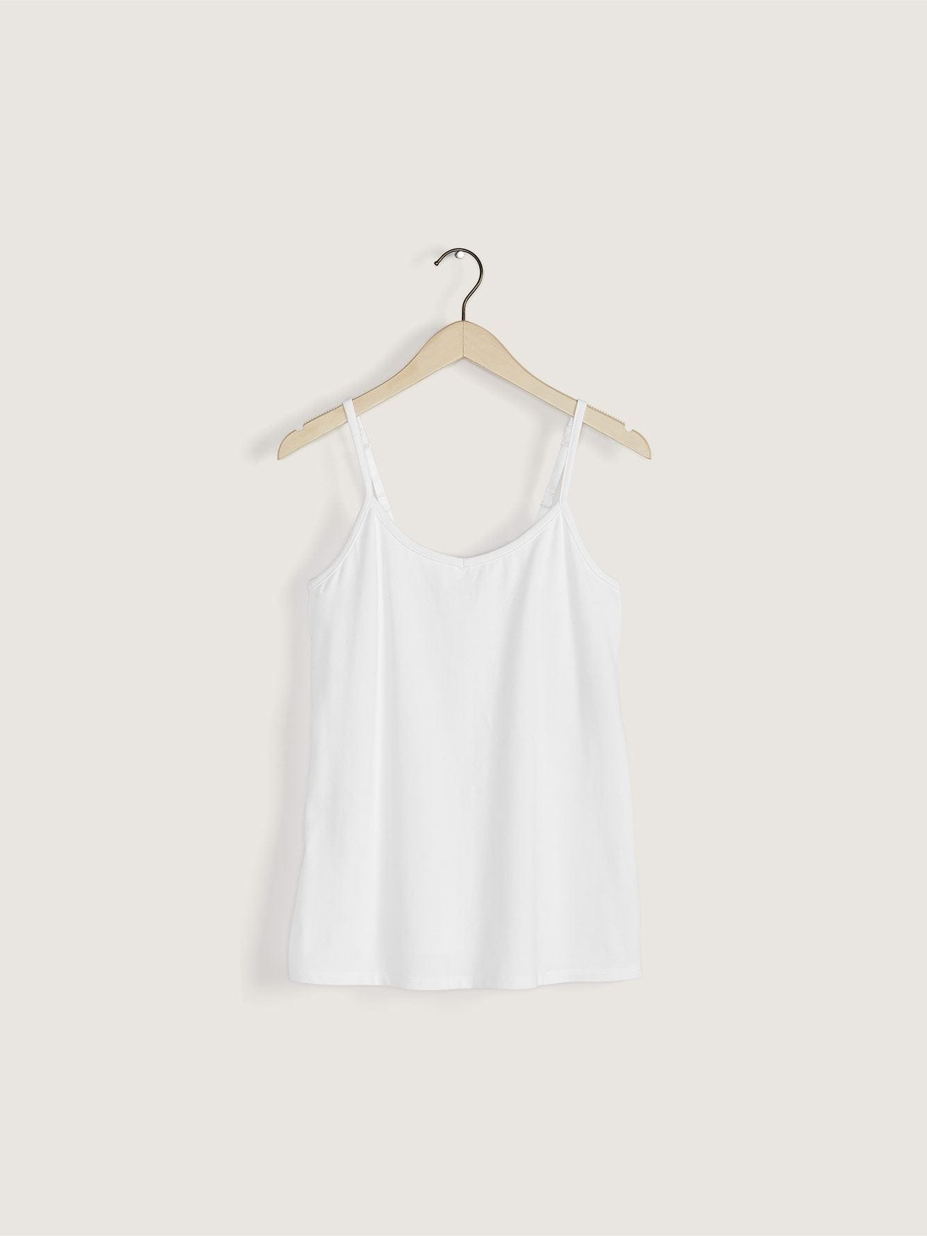 Fitted Cotton Tank Top with Adjustable Straps
