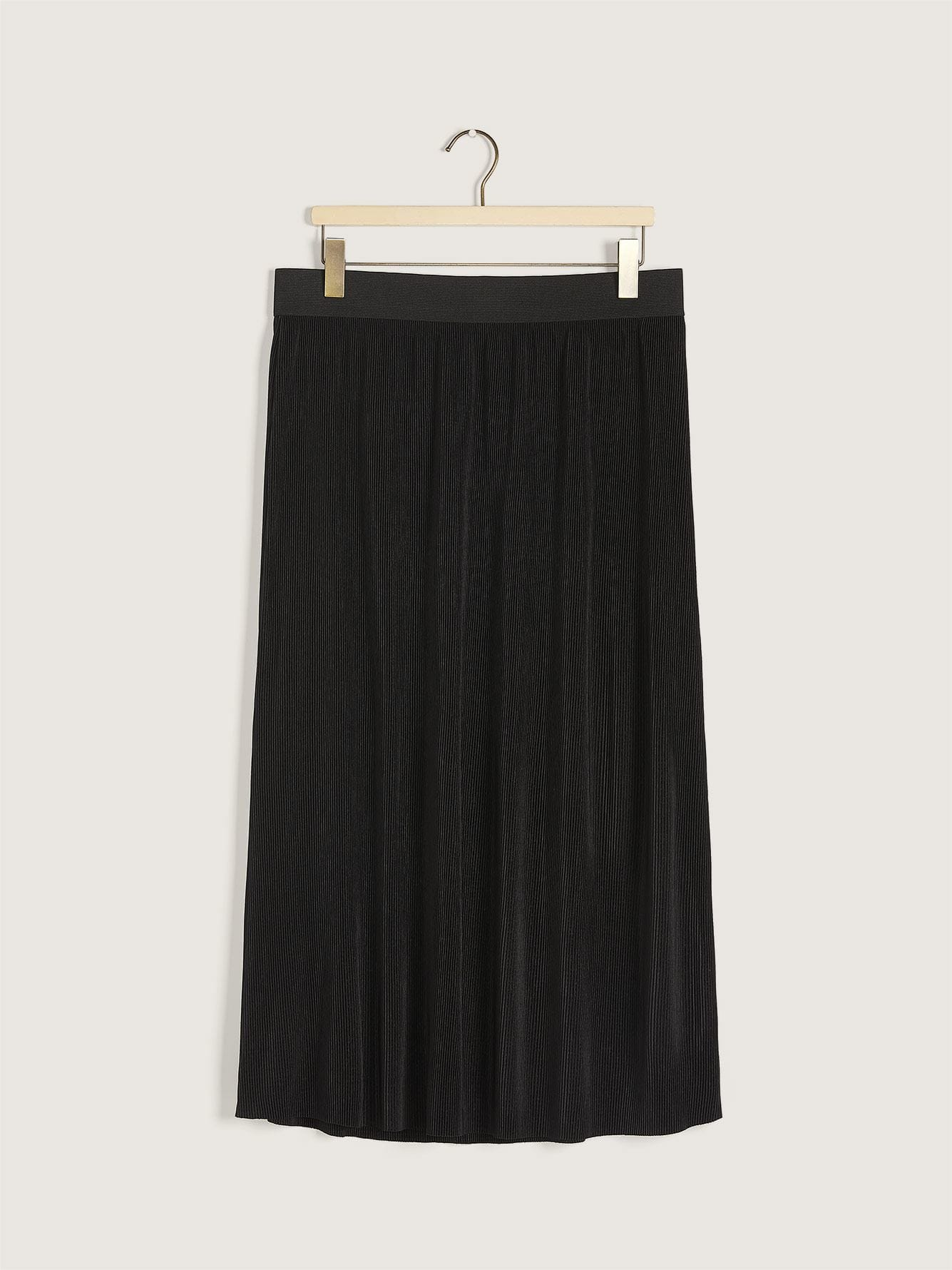 Fortuny Black Pleated Skirt - Addition Elle
