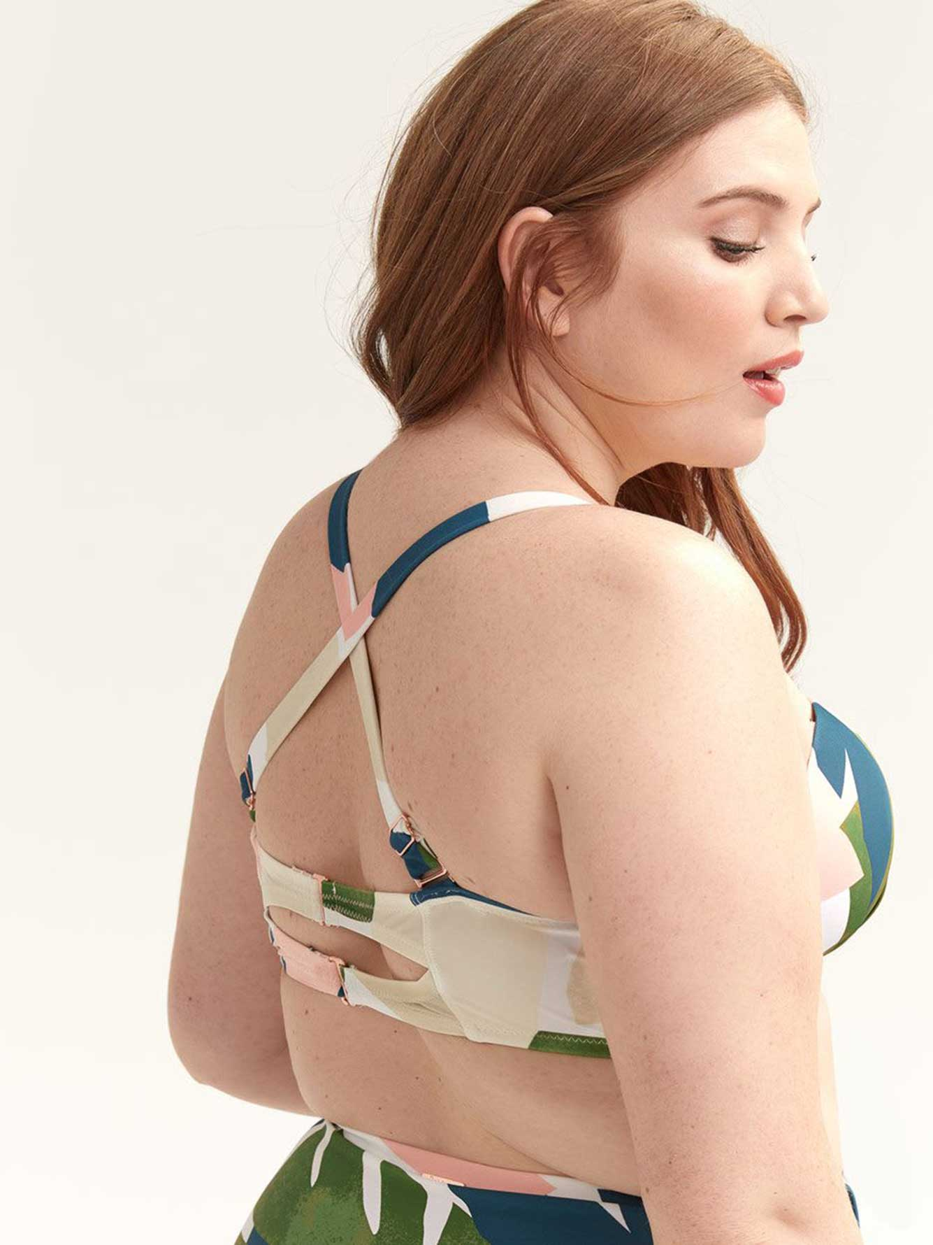 Printed Swim Bra - Raisins Curve