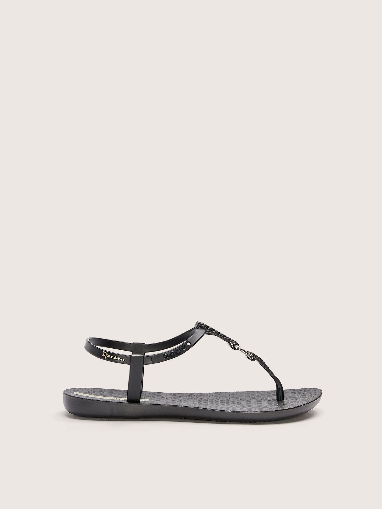 Wide Width Braided T-Strap Ring Sandal - Ipanema