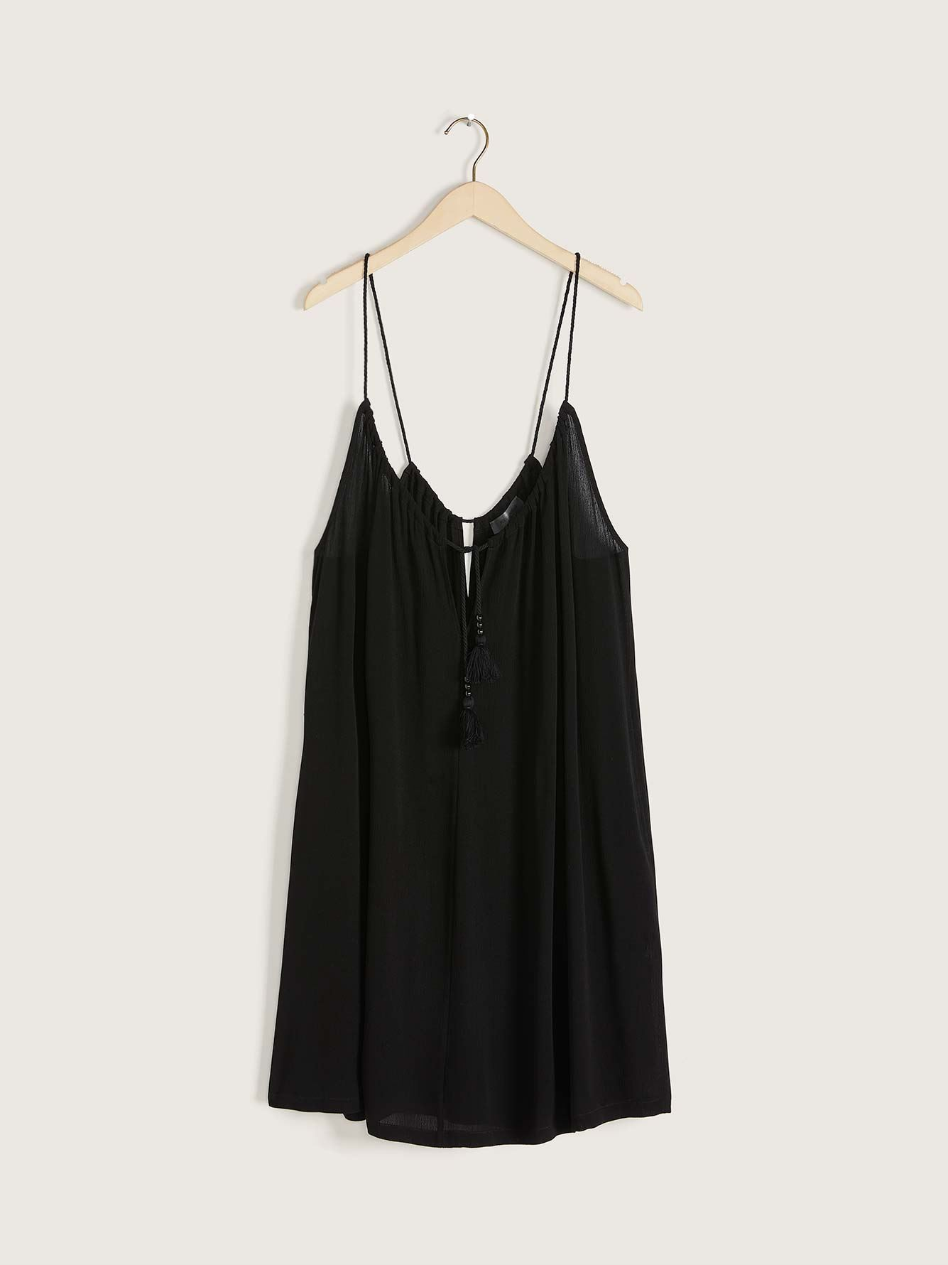 Solid Cover-Up Dress - Addition Elle