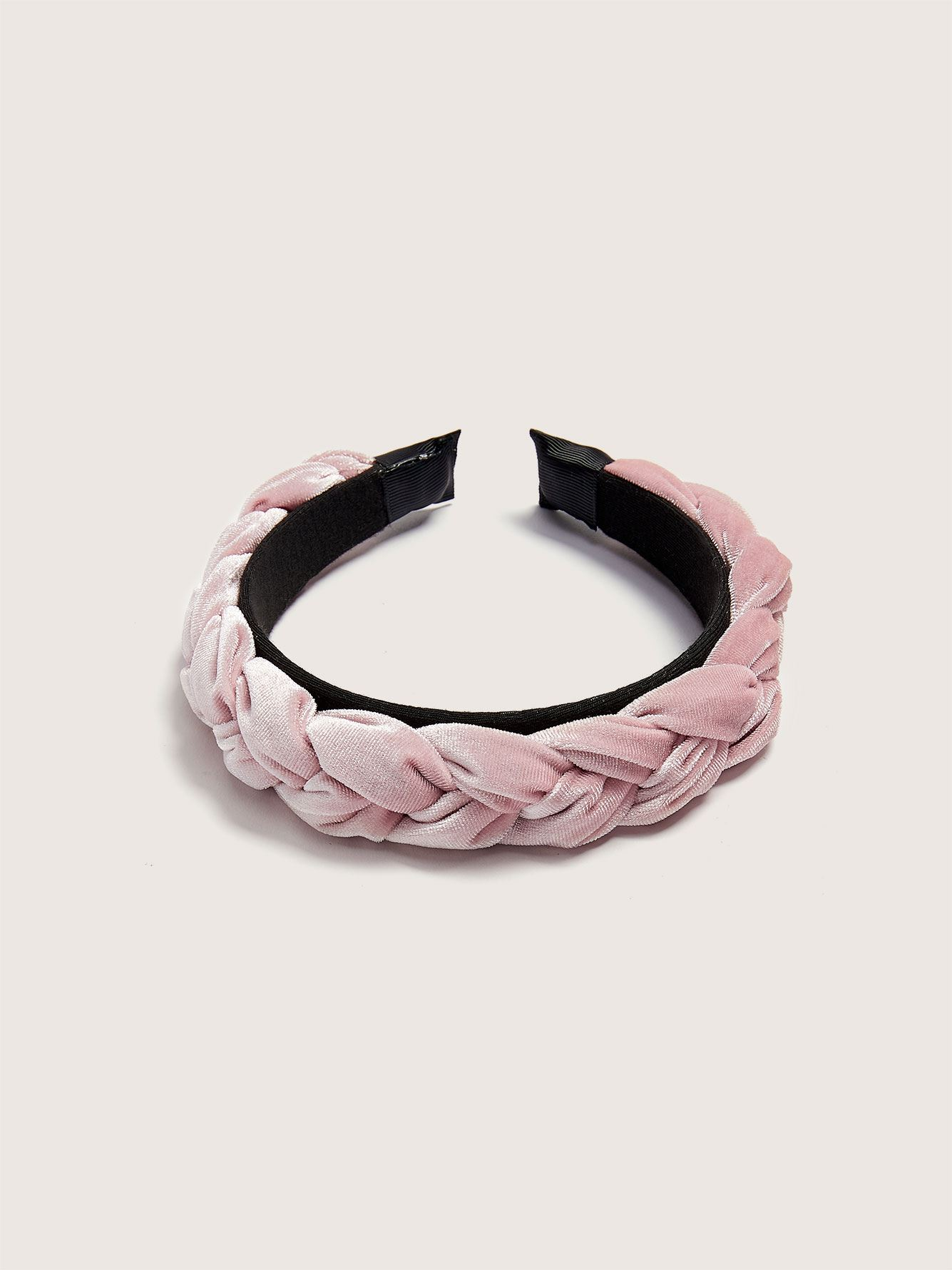 Ribbed Velvet Braided Headband - Addition Elle