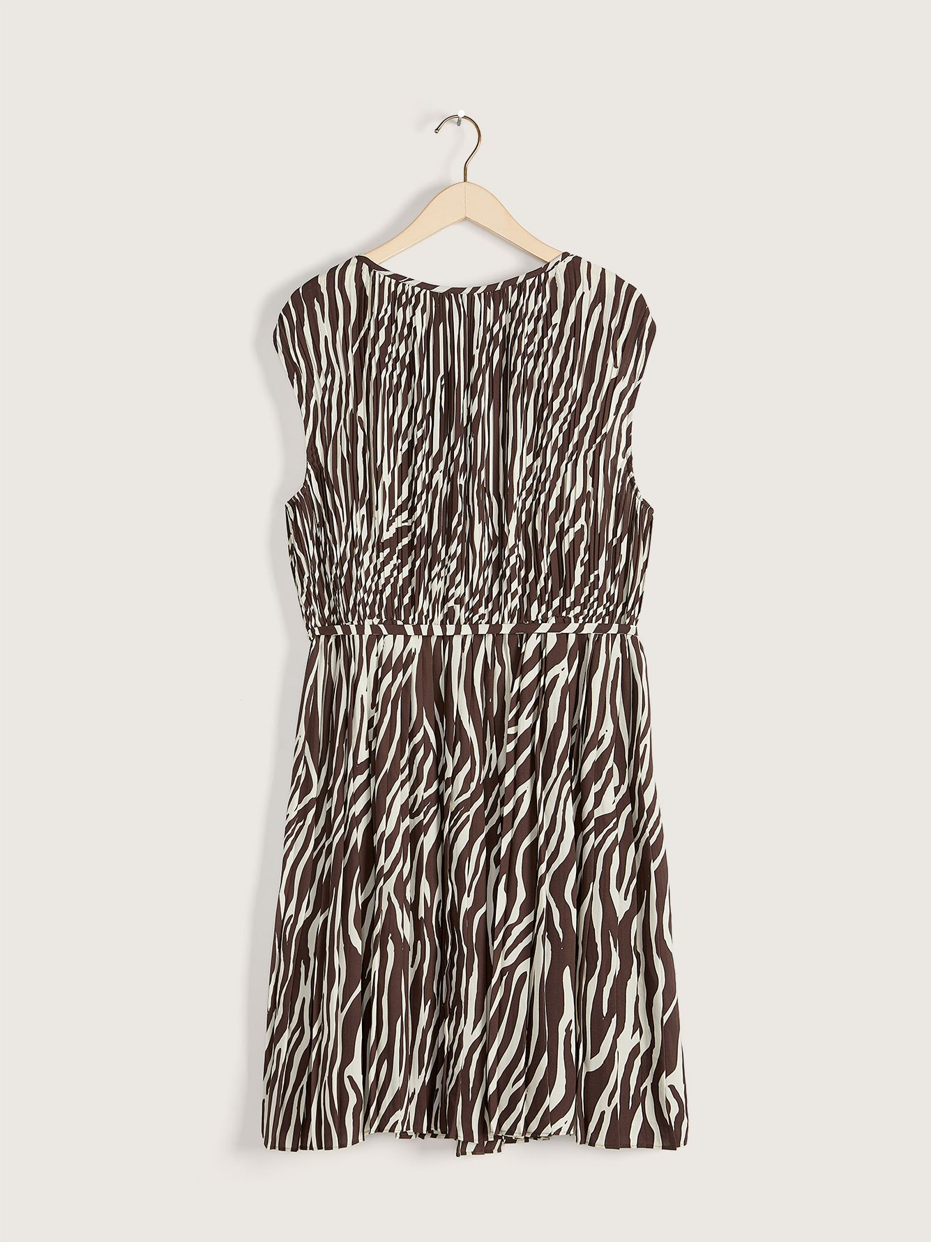 Animal Print Pleated Dress - Addition Elle