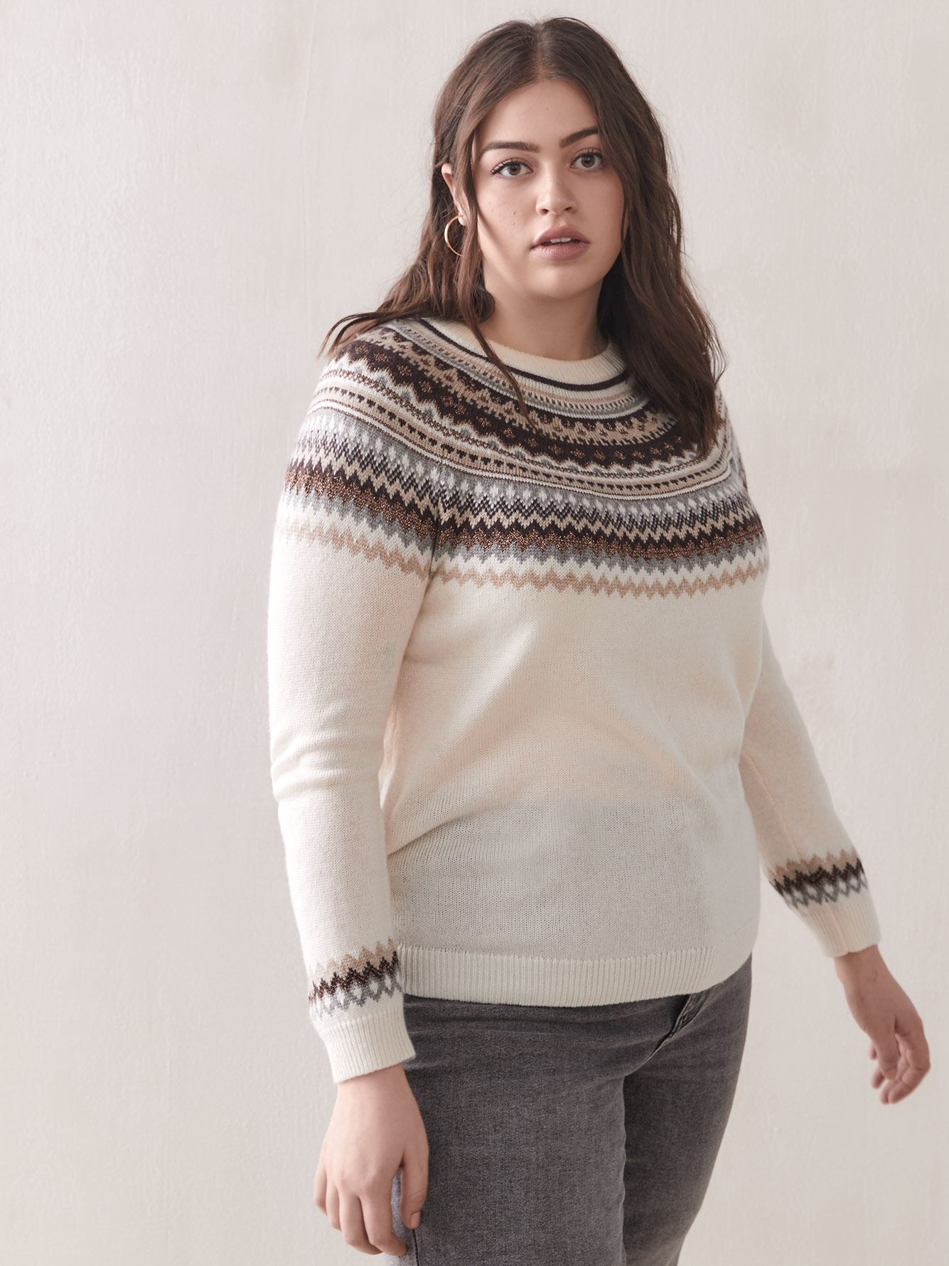 Tricot Fair Isle à manches raglan - Addition Elle
