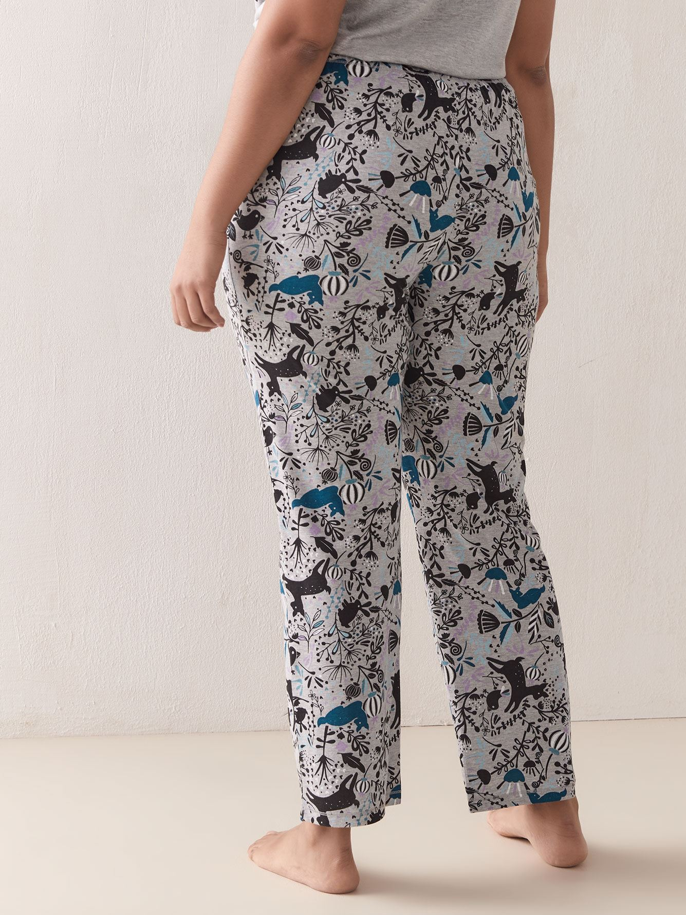 Printed Pyjama Pants with Sash - In Every Story