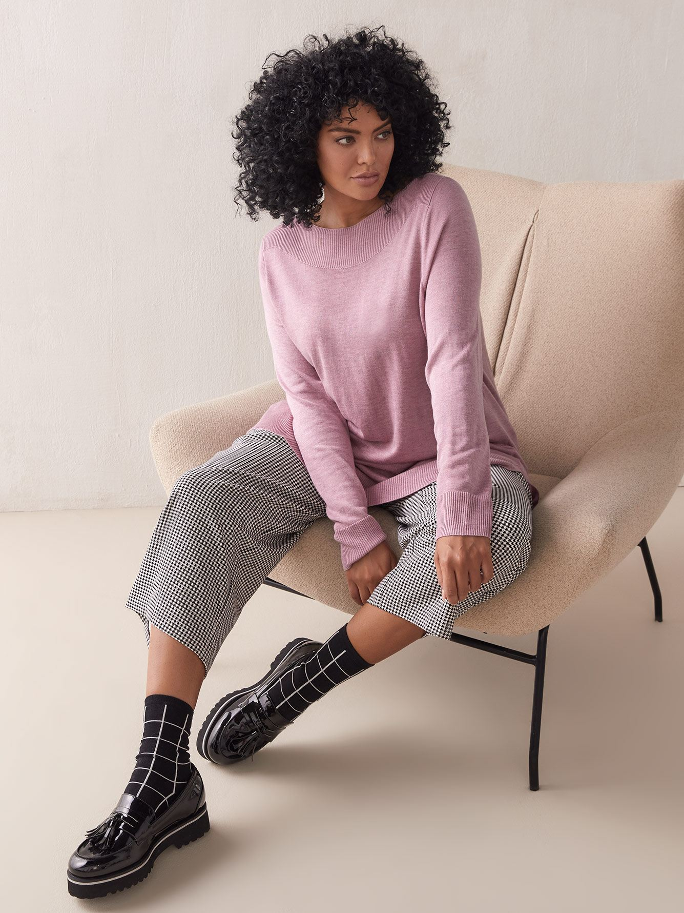 Hi-Low Boatneck Sweater - Addition Elle