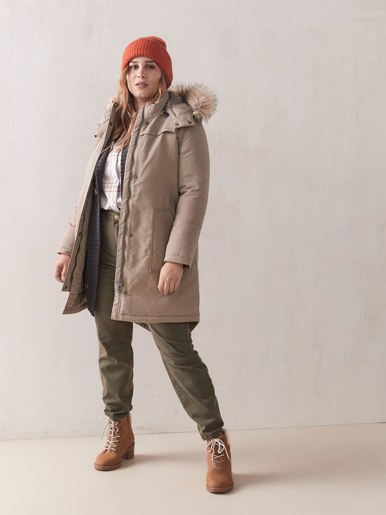 Parka with Puffer Hood - Addition Elle