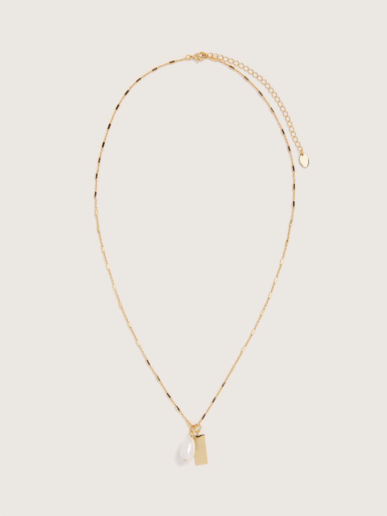 Long Layering Necklace with Pearl - Addition Elle