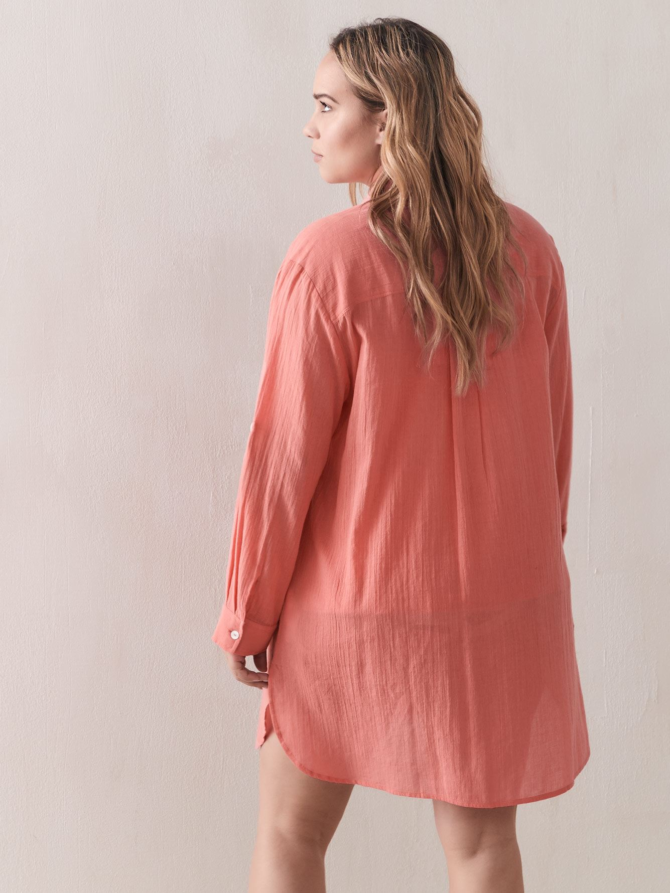 Button-Down Swim Cover Up - Addition Elle