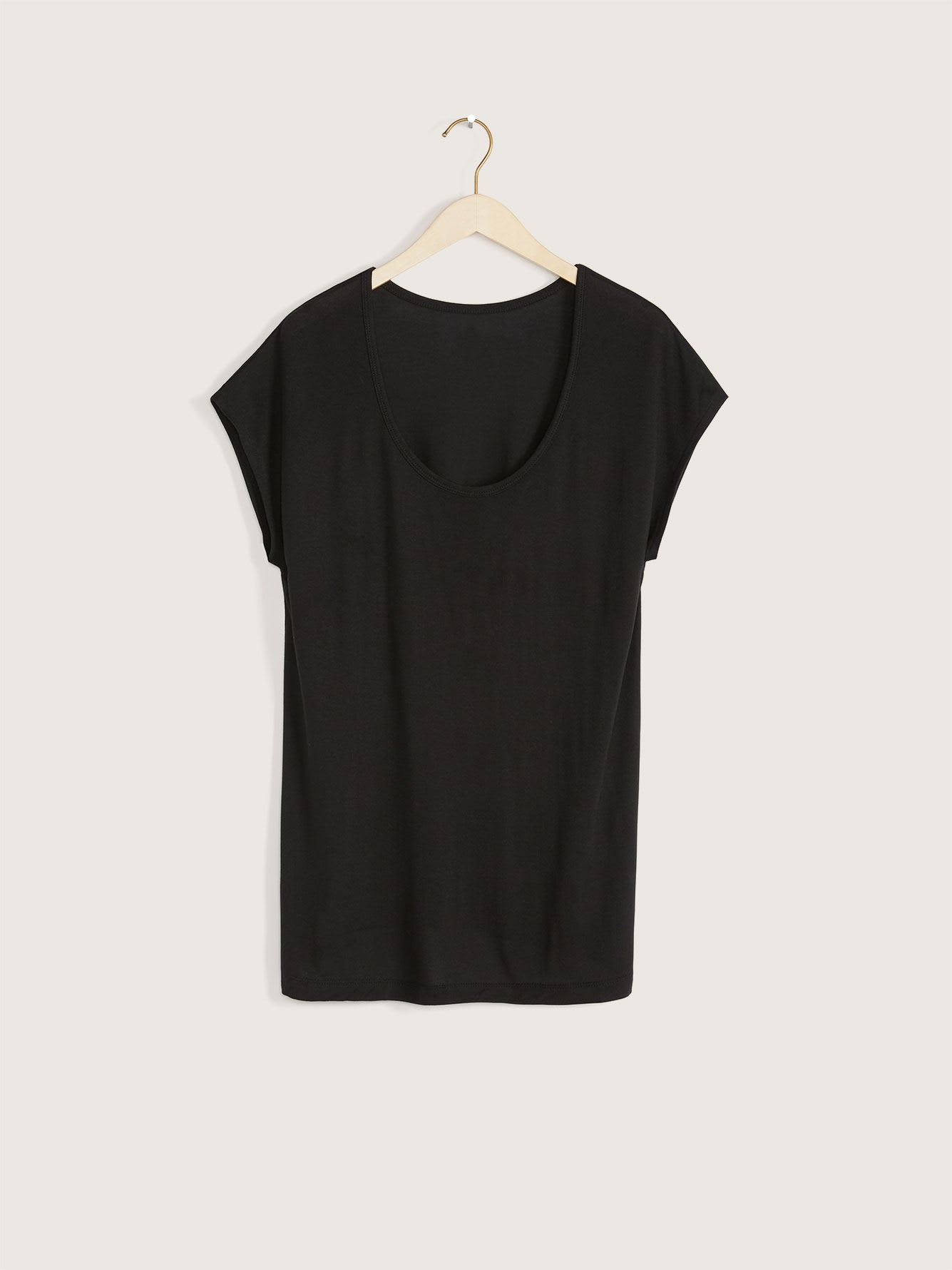Extended Shoulder T-Shirt - Addition Elle
