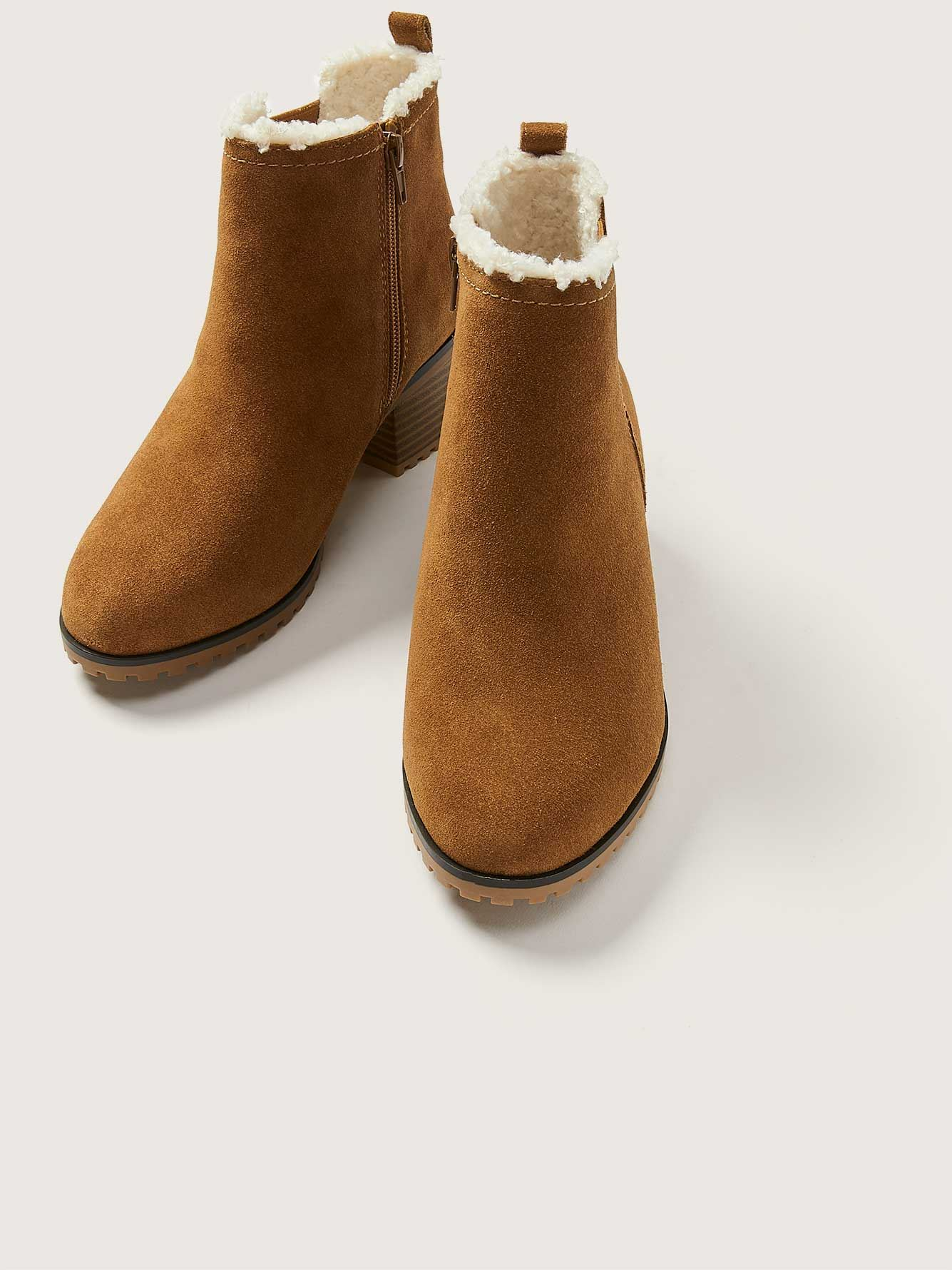 Wide Water Resistant Suede Bootie - Addition Elle