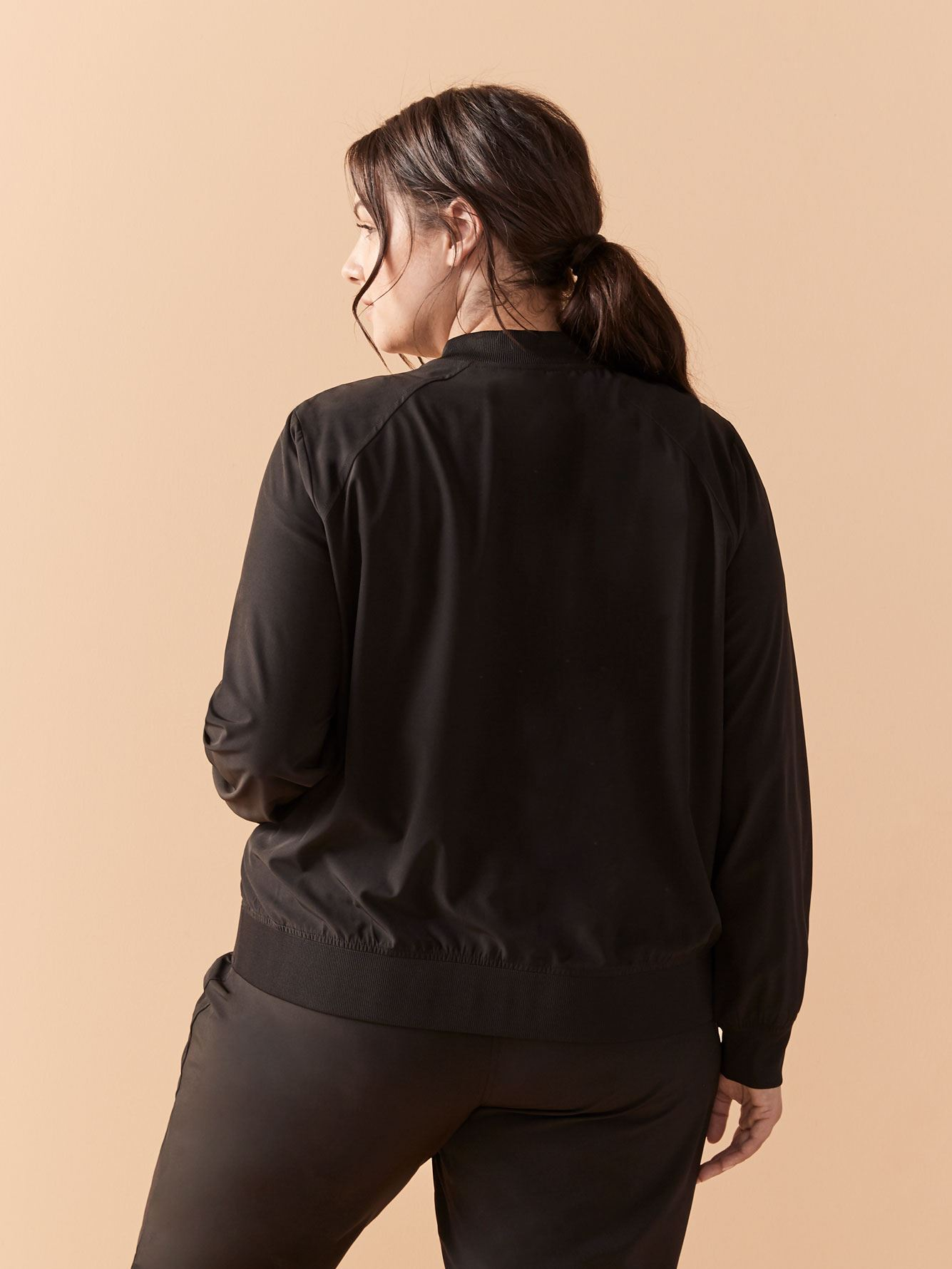 Solid Stretch Bomber Jacket - ActiveZone