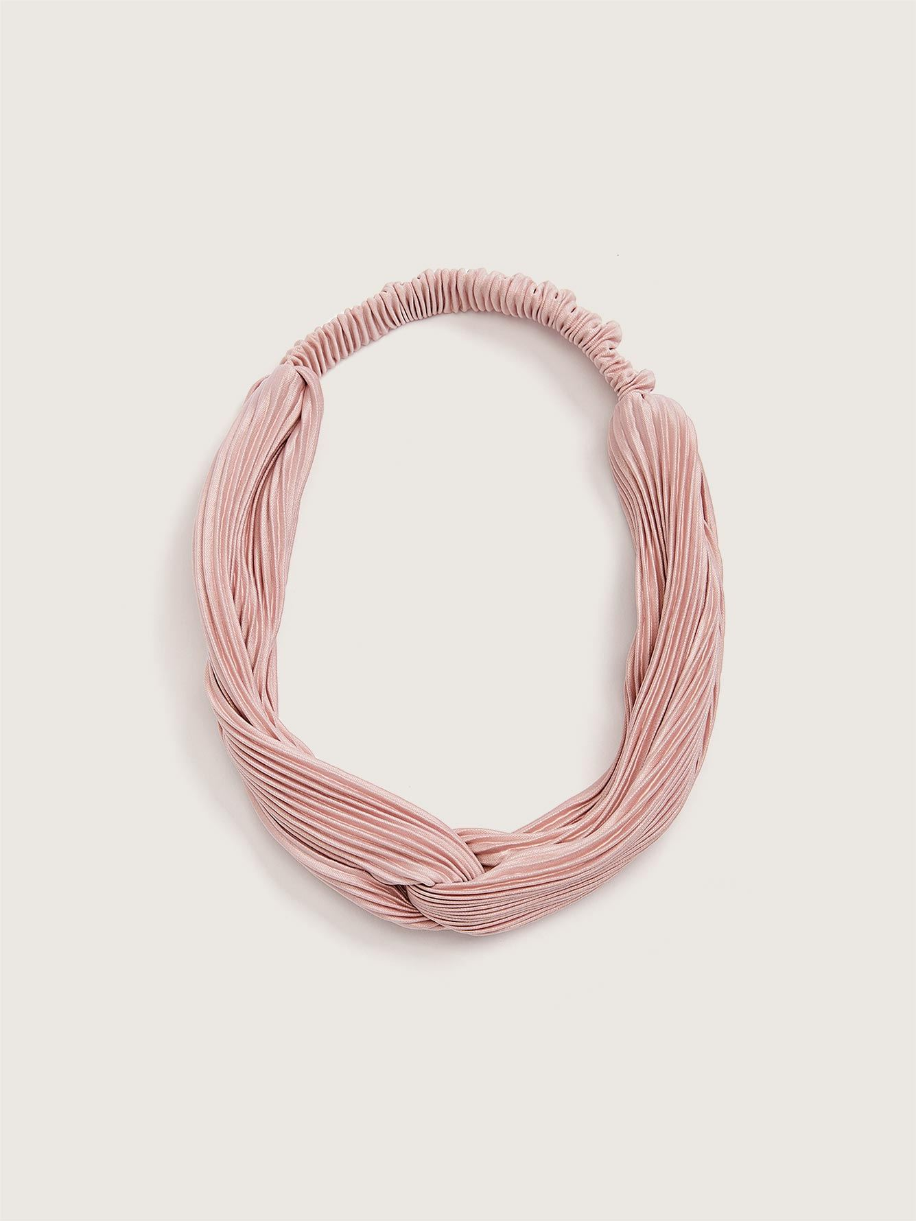 Pleated Twisted Headband - Addition Elle