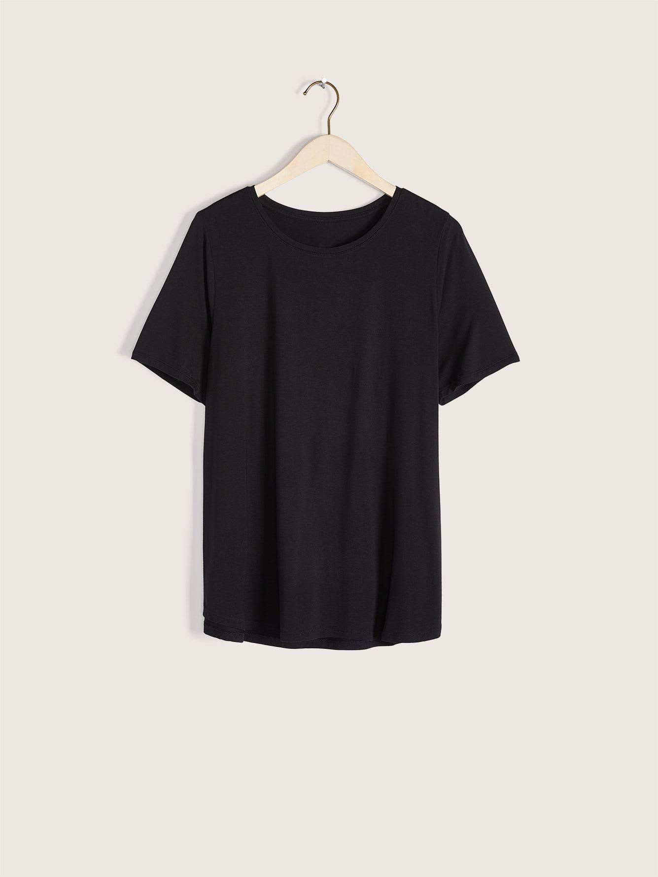 Modern-Fit Crew-Neck T-Shirt - Addition Elle