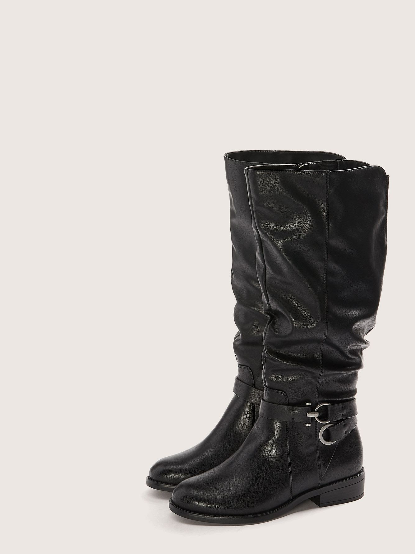 Wide High Shaft Slouch Boots - Addition Elle