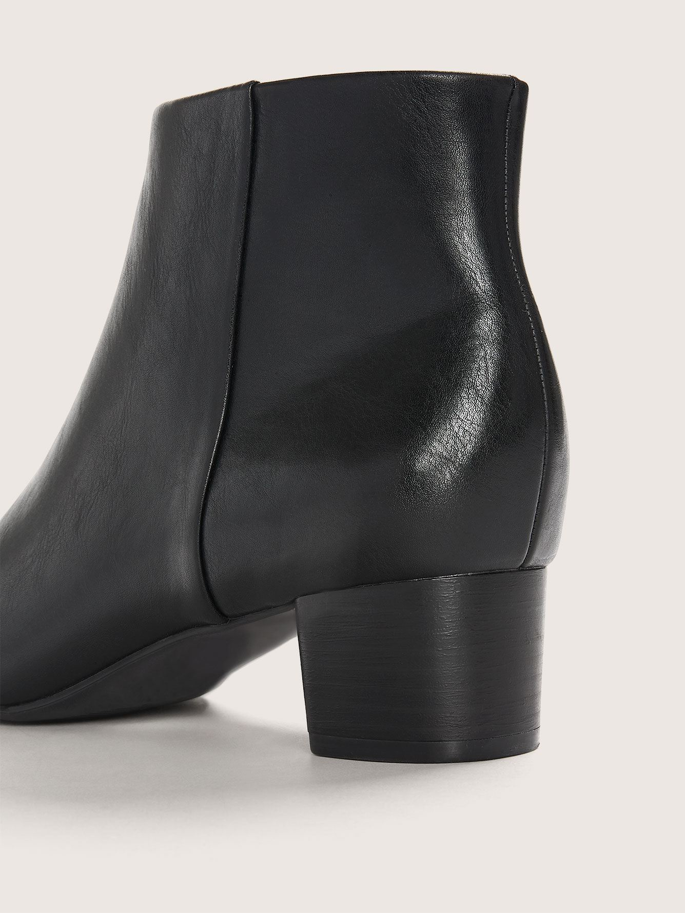 Wide Width Square Heel Pointy Toe Bootie - Addition Elle