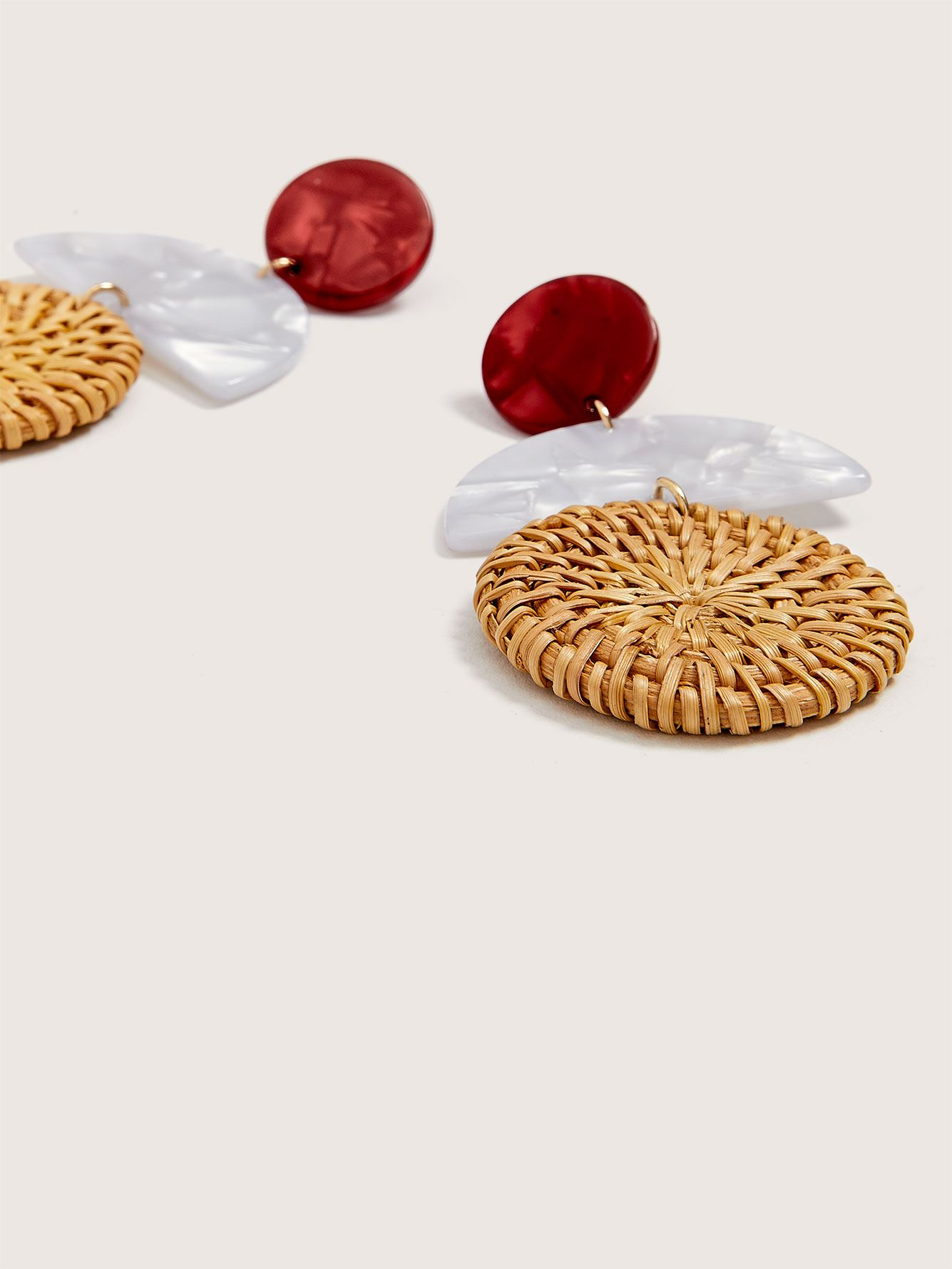 Raffia Geometric Earrings - Addition Elle