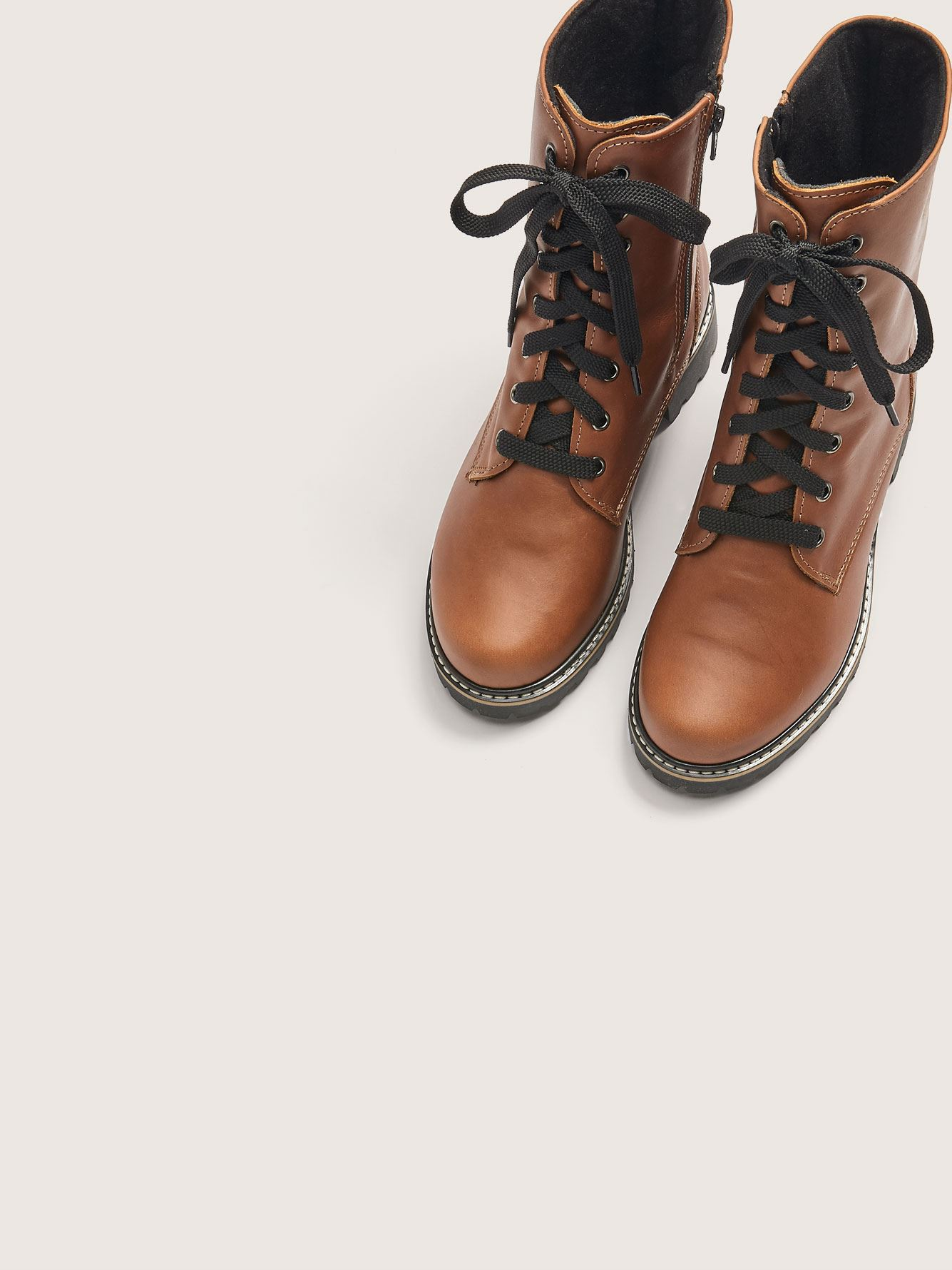 Wide Leather Combat Boot - Martino