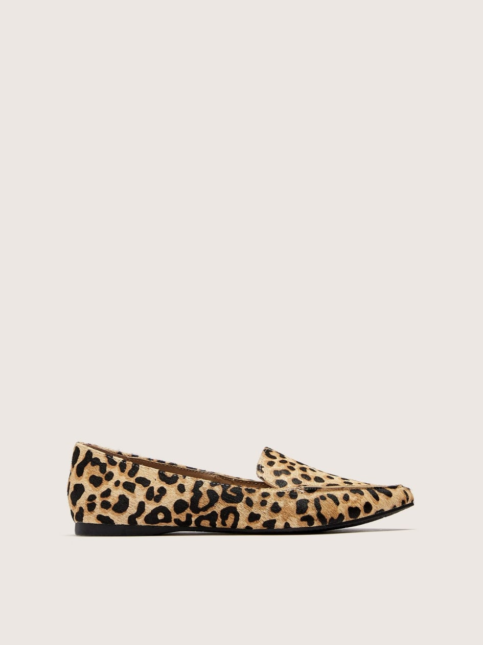 e84f7ab19db Wide Width Leopard Feather Loafers - Steve Madden