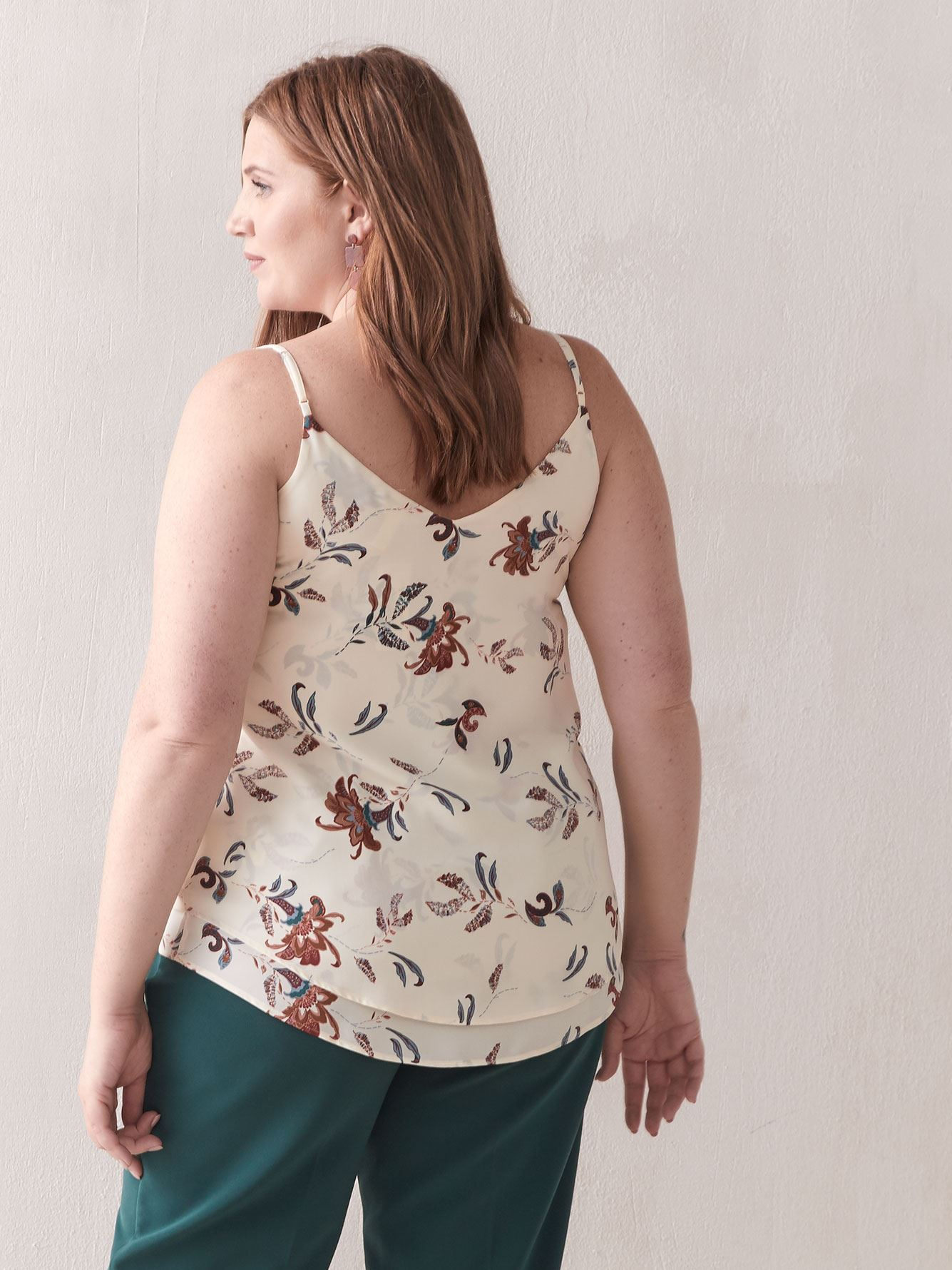 Floral Double-Layer Cami - Addition Elle