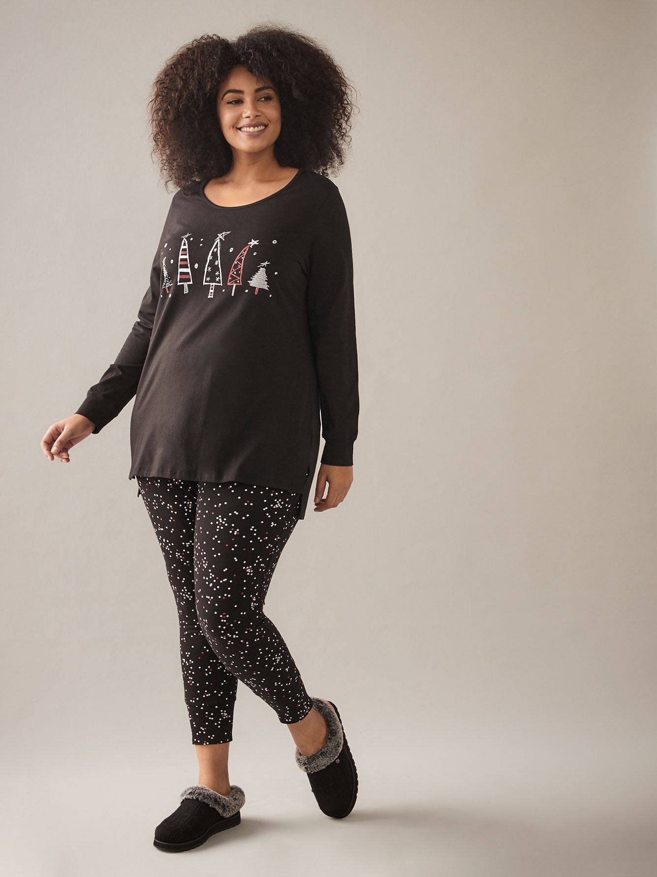 Holiday PJ Set with Dotted Legging - In Every Story