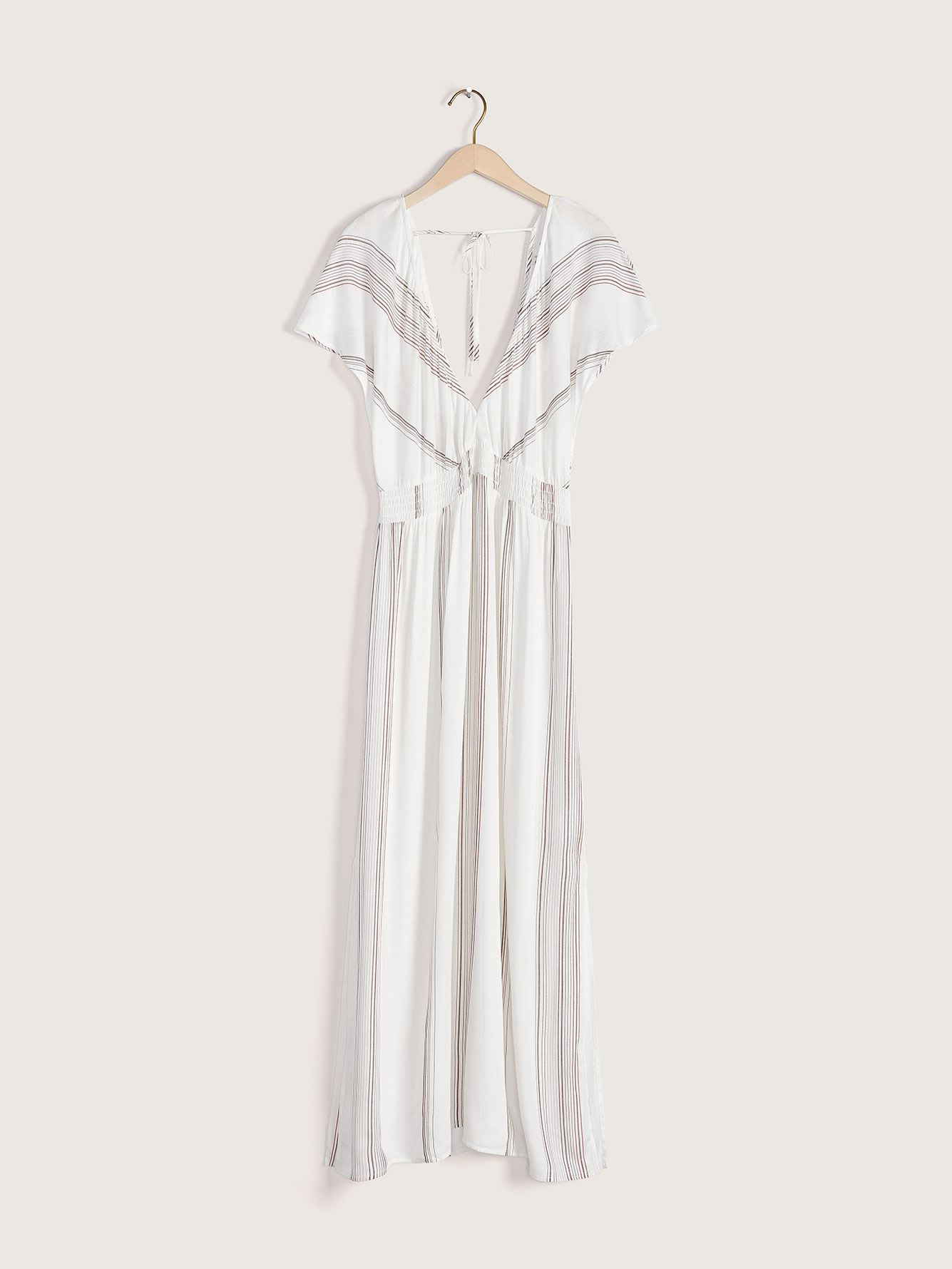 Plunge Maxi Cover-Up Dress - Addition Elle