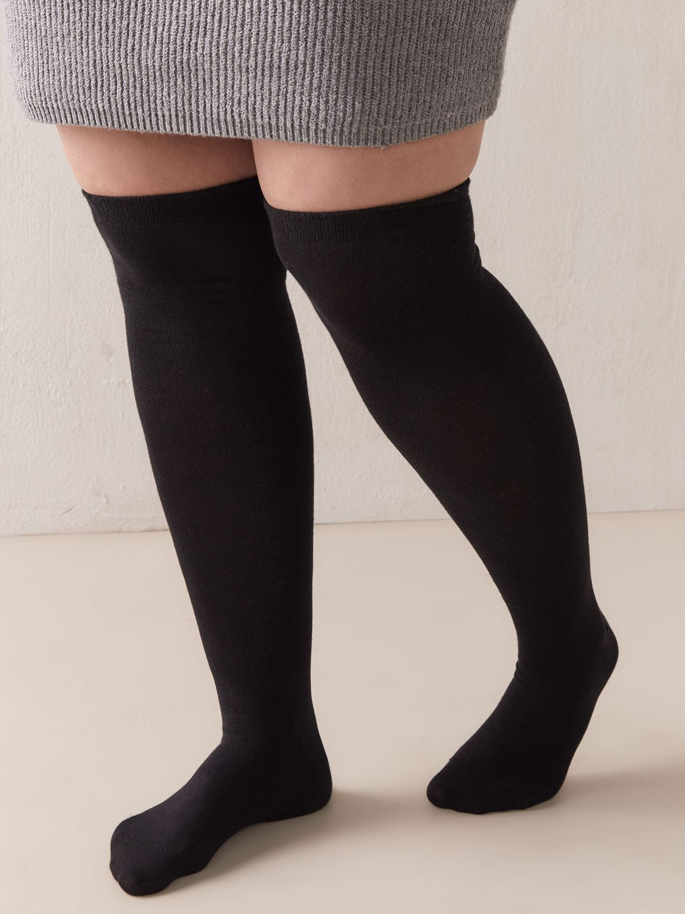 Solid Over-The-Knee Socks - Addition Elle