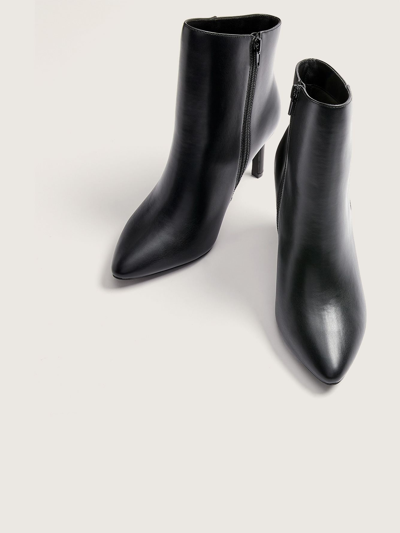 Wide Pointy Toe Ankle Booties - Addition Elle