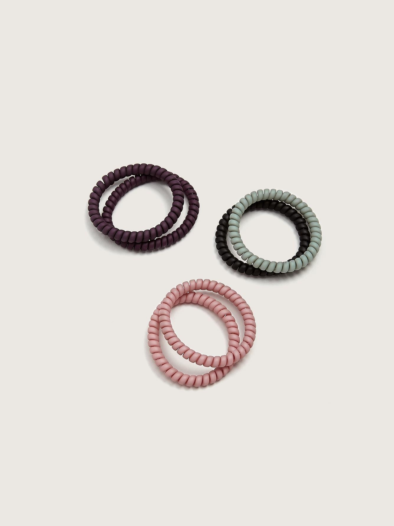 Pack of 6 Mini Hair Elastics - Addition Elle