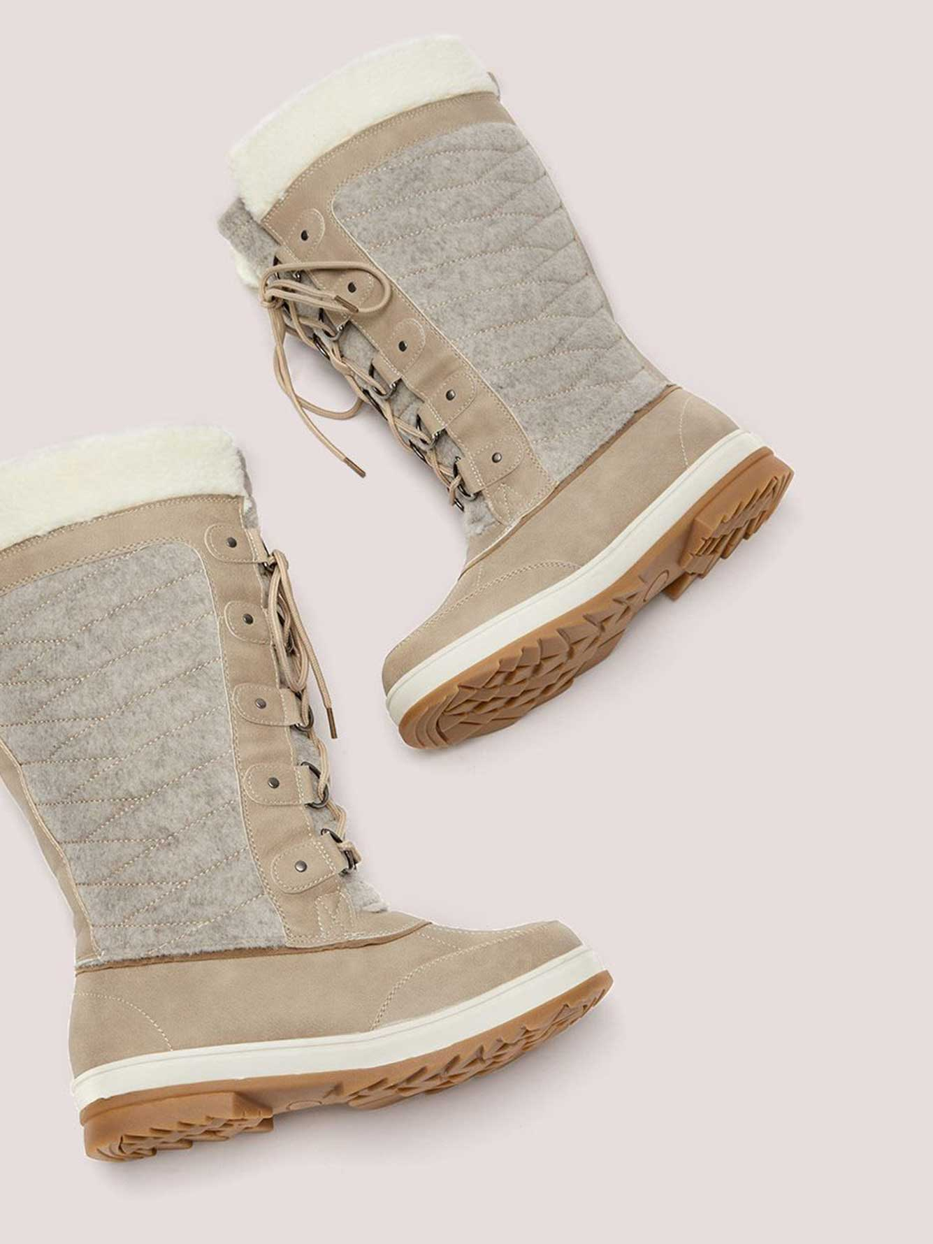 Wide Calf Faux-Suede Winter Boot