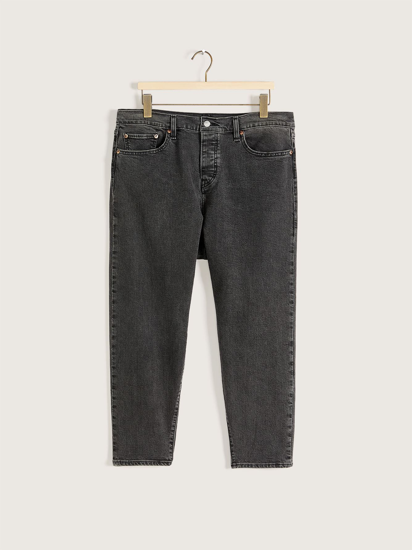 Stretchy High-Rise Wedgie Black Ankle Length Jean - Levi's Premium