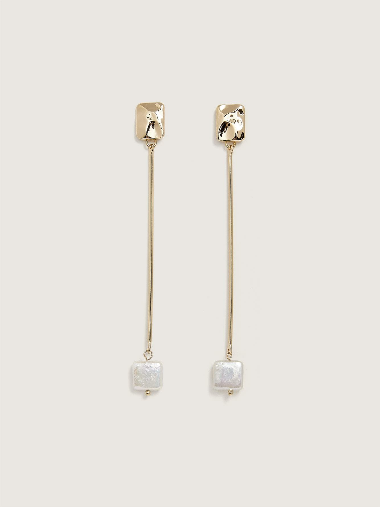 Pendant Earrings with Fresh Water Pearl