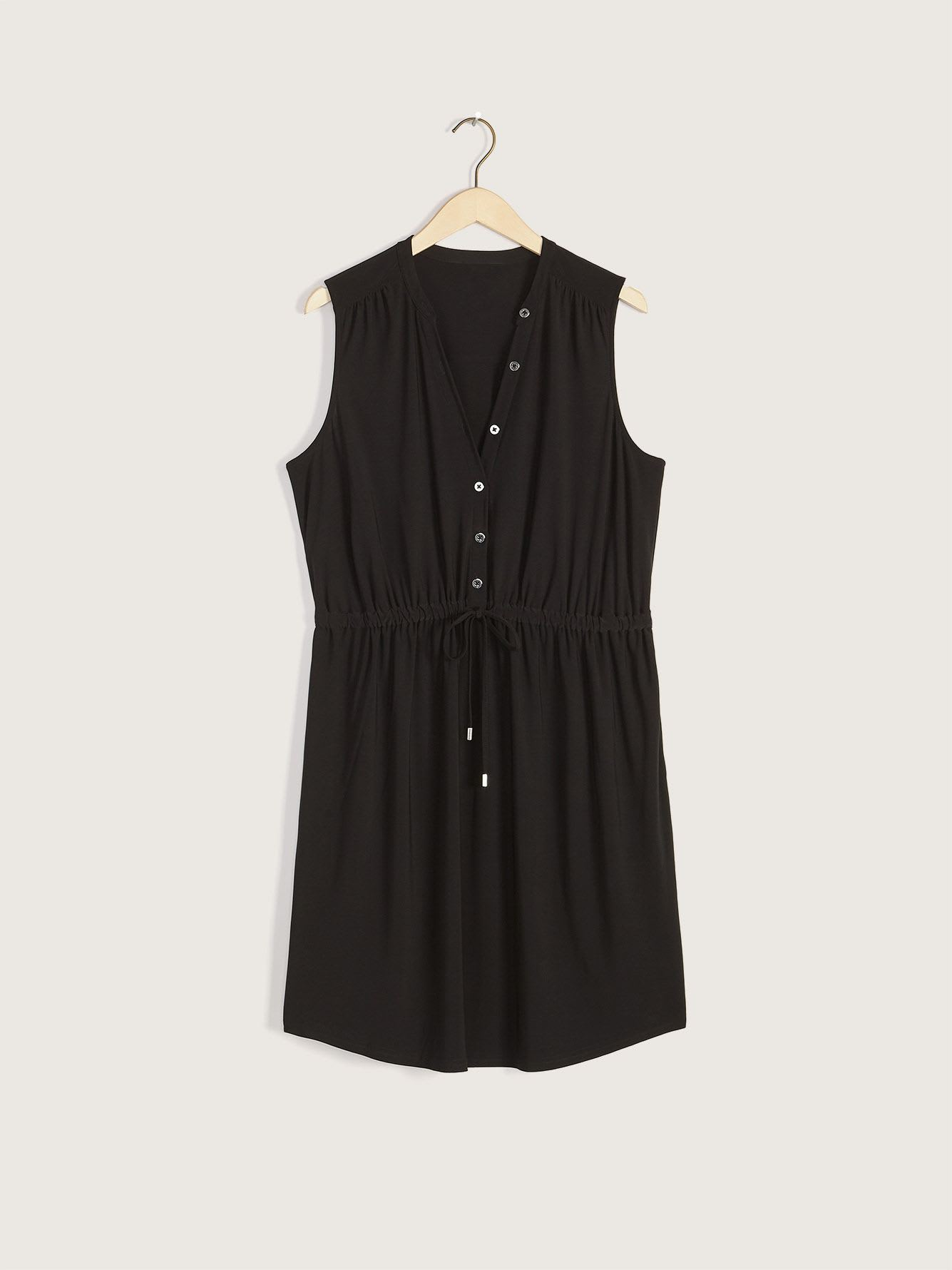 Sleeveless Shirt Dress - Addition Elle