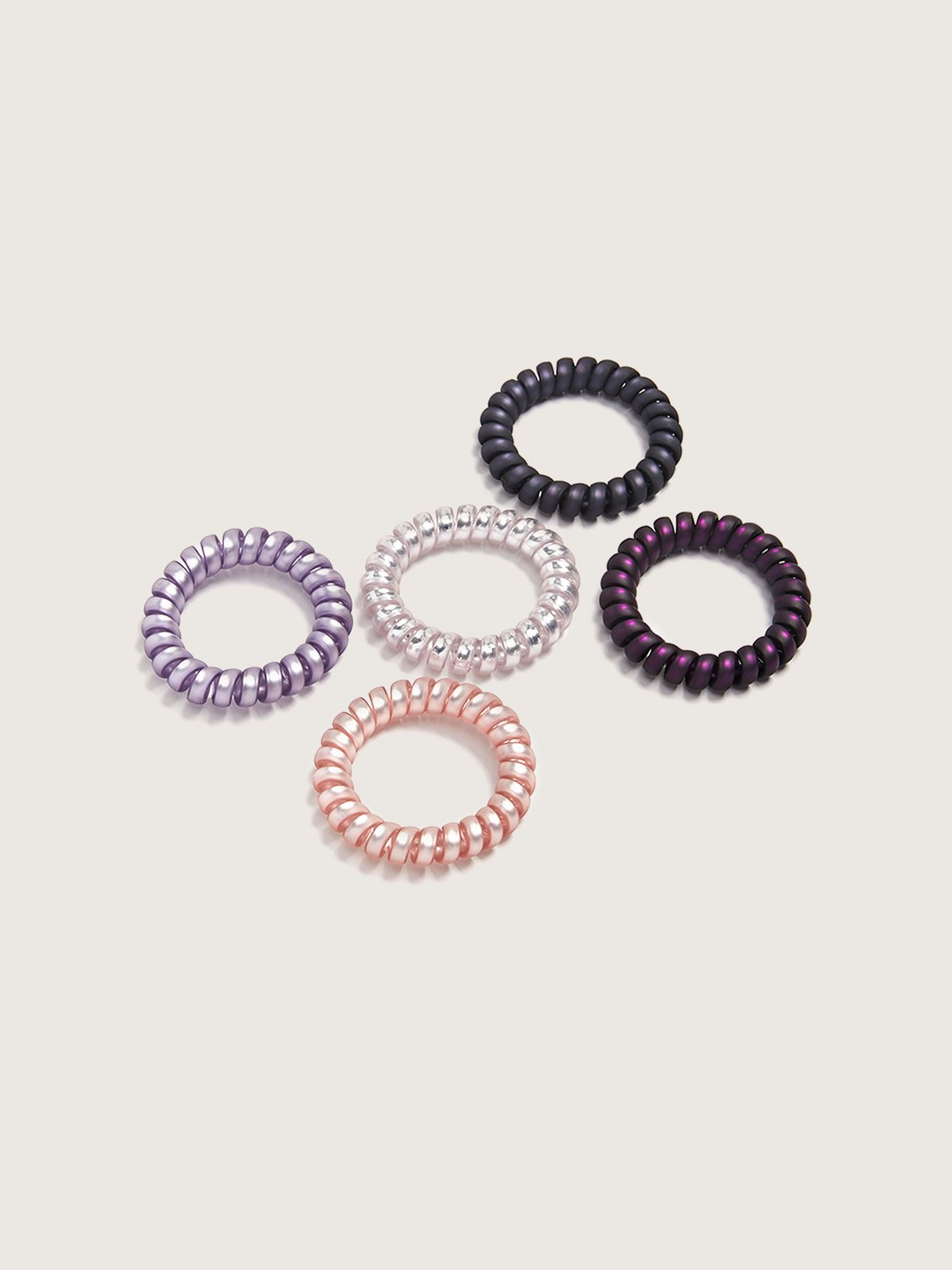 Shiny Hair Coils, 5-Pack - Addition Elle