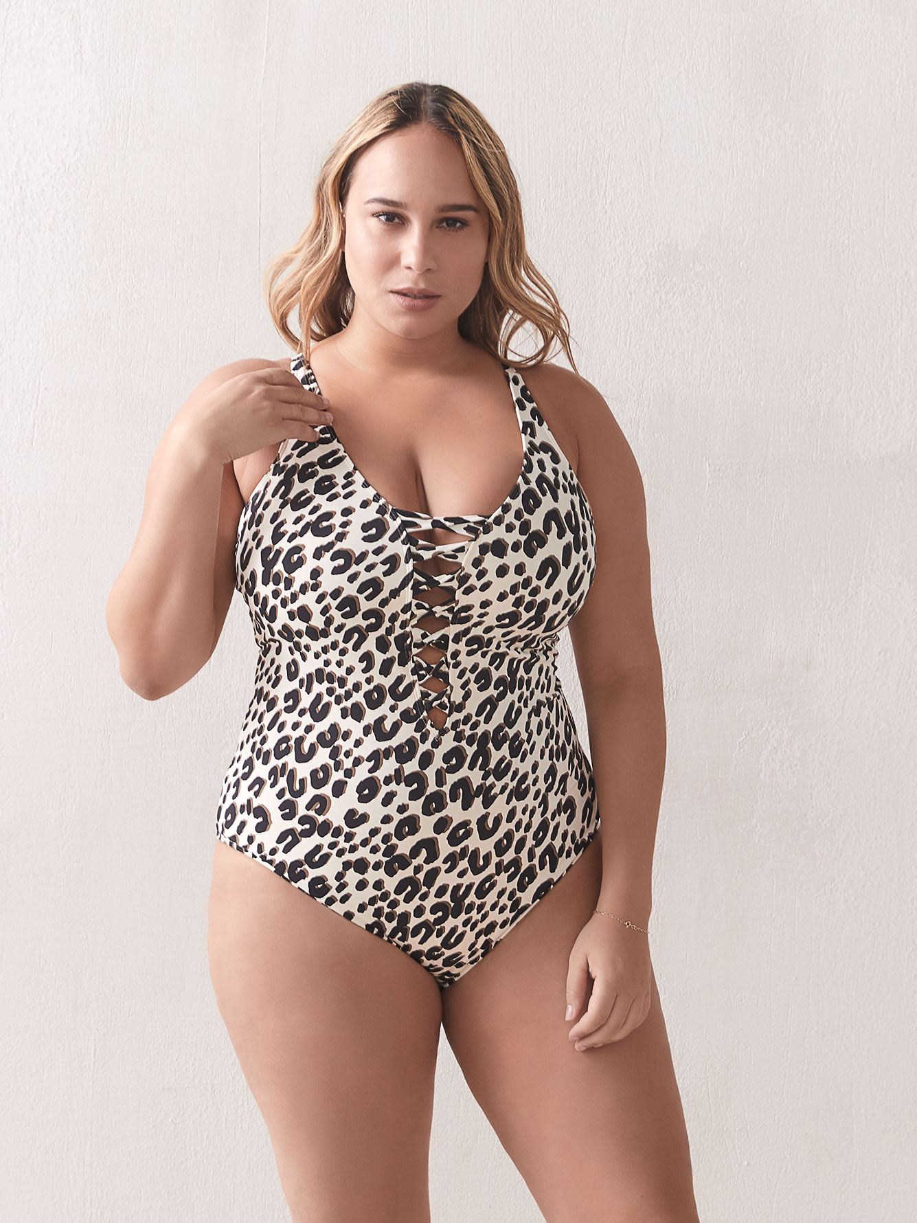Skin Games Animal Print One-Piece Swimsuit - Bleu Rod Beattie