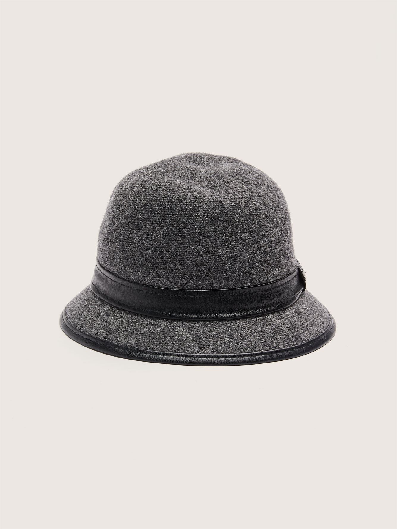 Felt Cloche Hat with Leather Ribbon - Canadian Hat