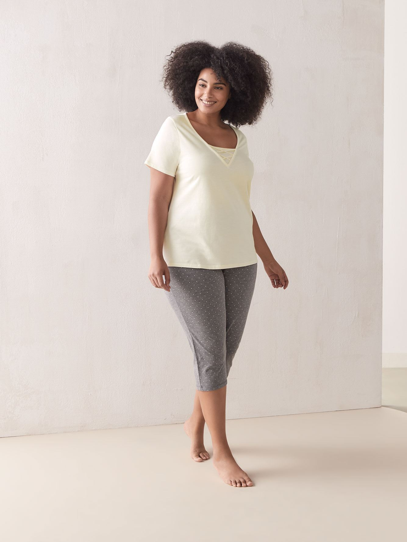 Solid Short Sleeve Pyjama T-Shirt - In Every Story