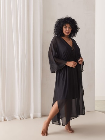Long Chiffon Robe - Ashley Graham