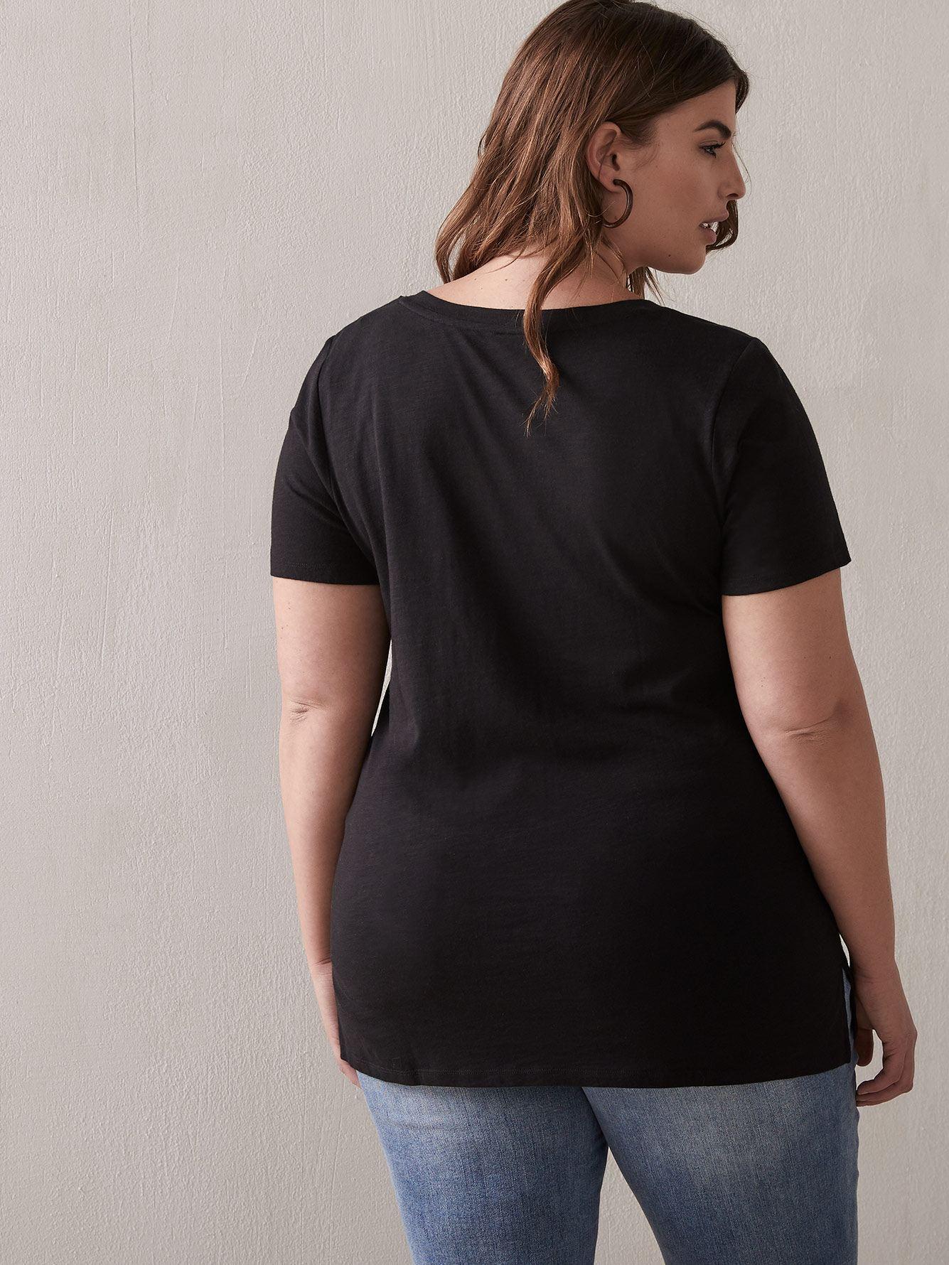 T-shirt boyfriend col V